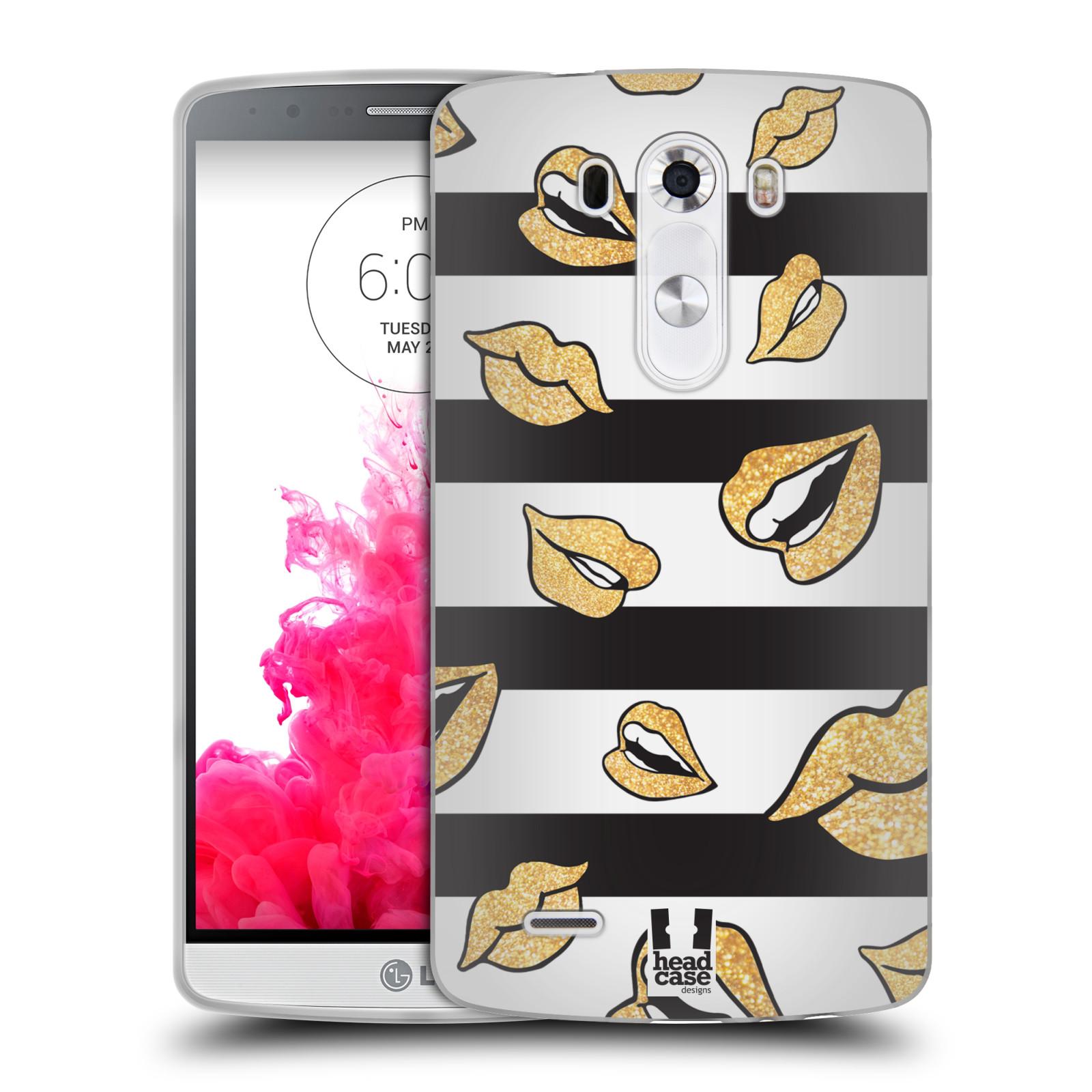 HEAD CASE DESIGNS LIP PATTERNS SOFT GEL CASE FOR LG PHONES 1