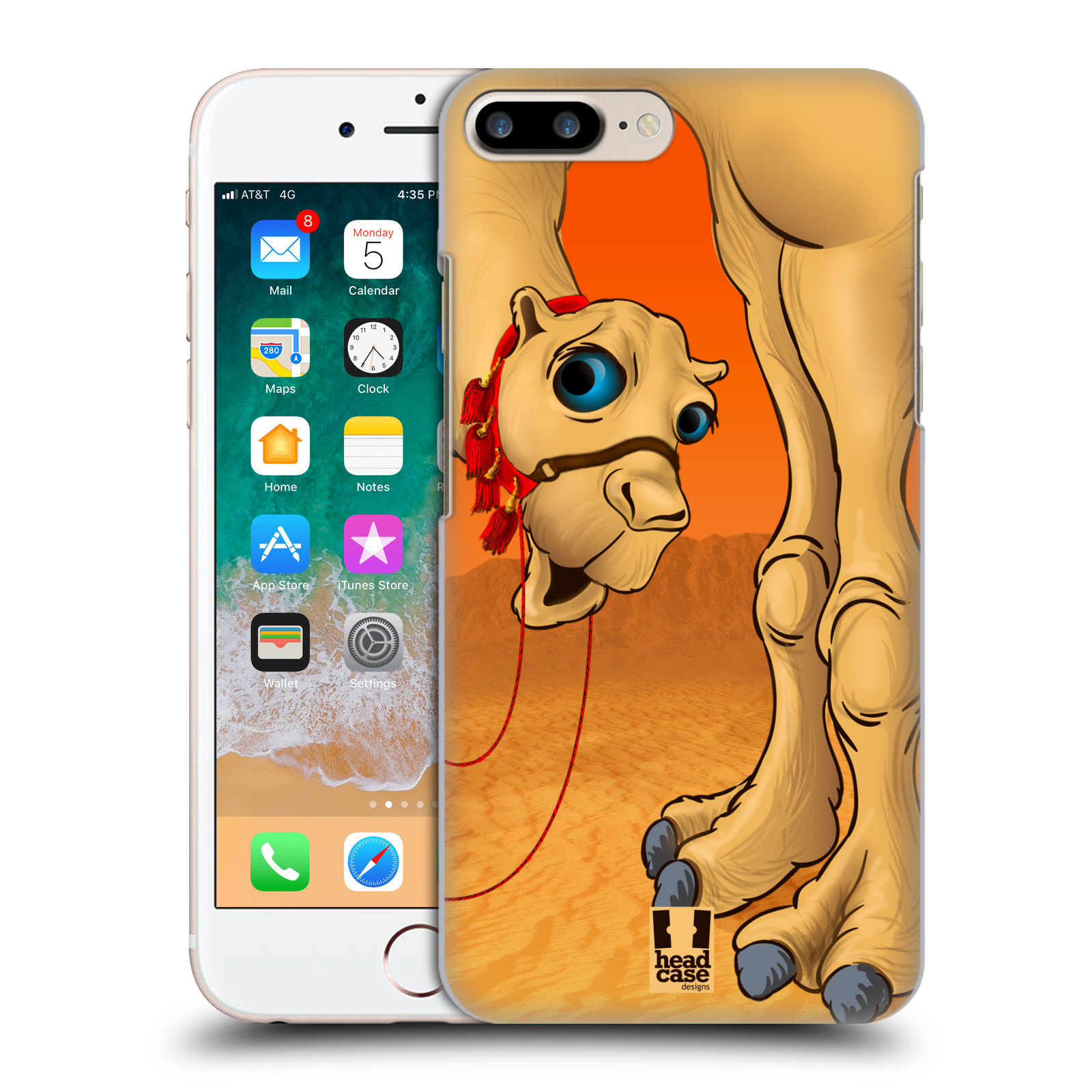 HEAD CASE plastový obal na mobil Apple Iphone 7 PLUS vzor dlouhé nohy kreslená velbloud
