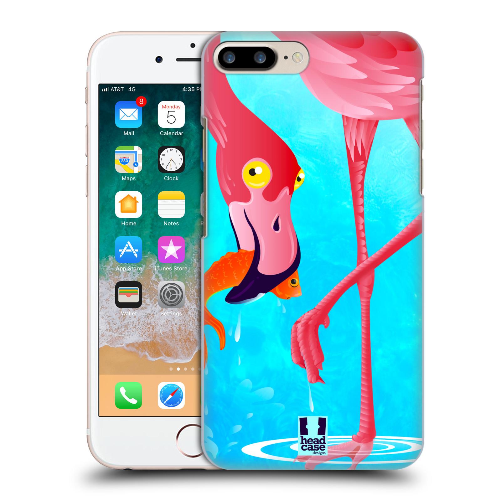 HEAD CASE plastový obal na mobil Apple Iphone 7 PLUS vzor dlouhé nohy kreslená zvířátka plameňák