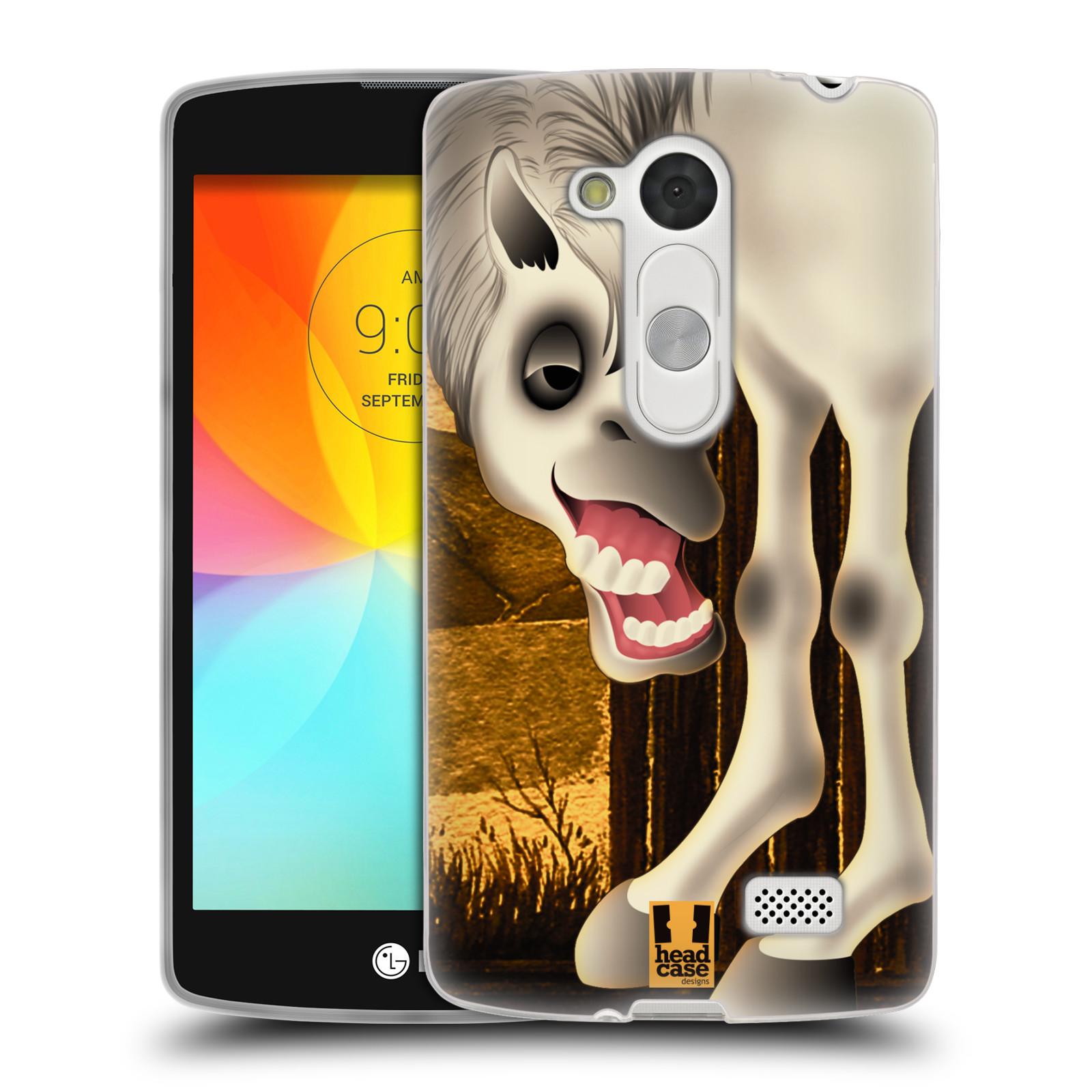 HEAD CASE silikonový obal na mobil LG L Fino D290n / LG L Fino Dual D295 vzor dlouhé nohy kreslená zvířátka kůň