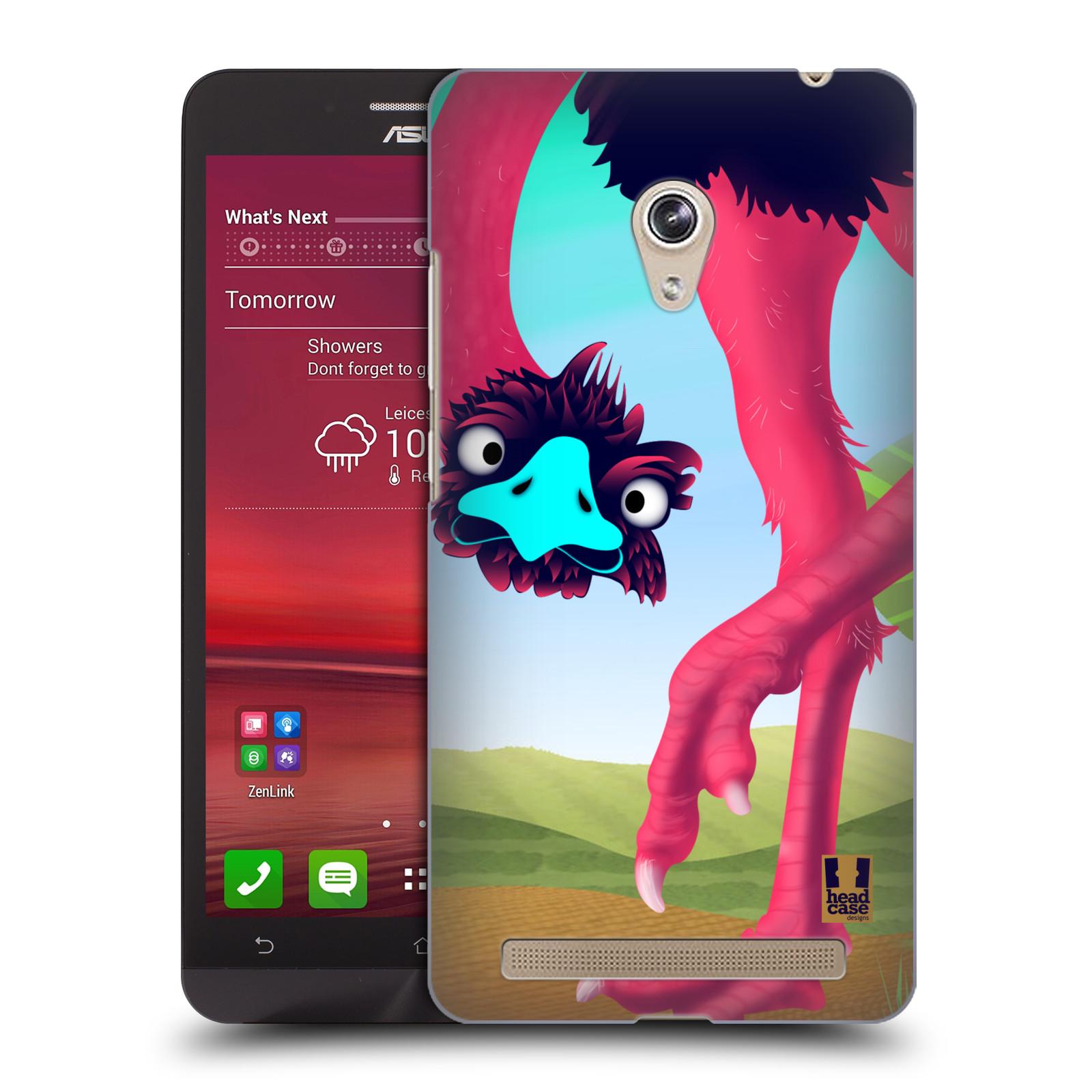 HEAD CASE plastový obal na mobil Asus Zenfone 6 vzor dlouhé nohy kreslená zvířátka pštros