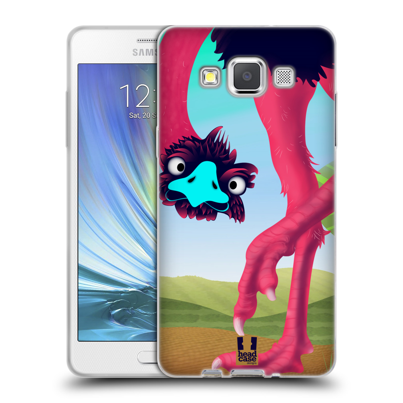 HEAD CASE silikonový obal na mobil Samsung Galaxy A5 vzor dlouhé nohy kreslená zvířátka pštros