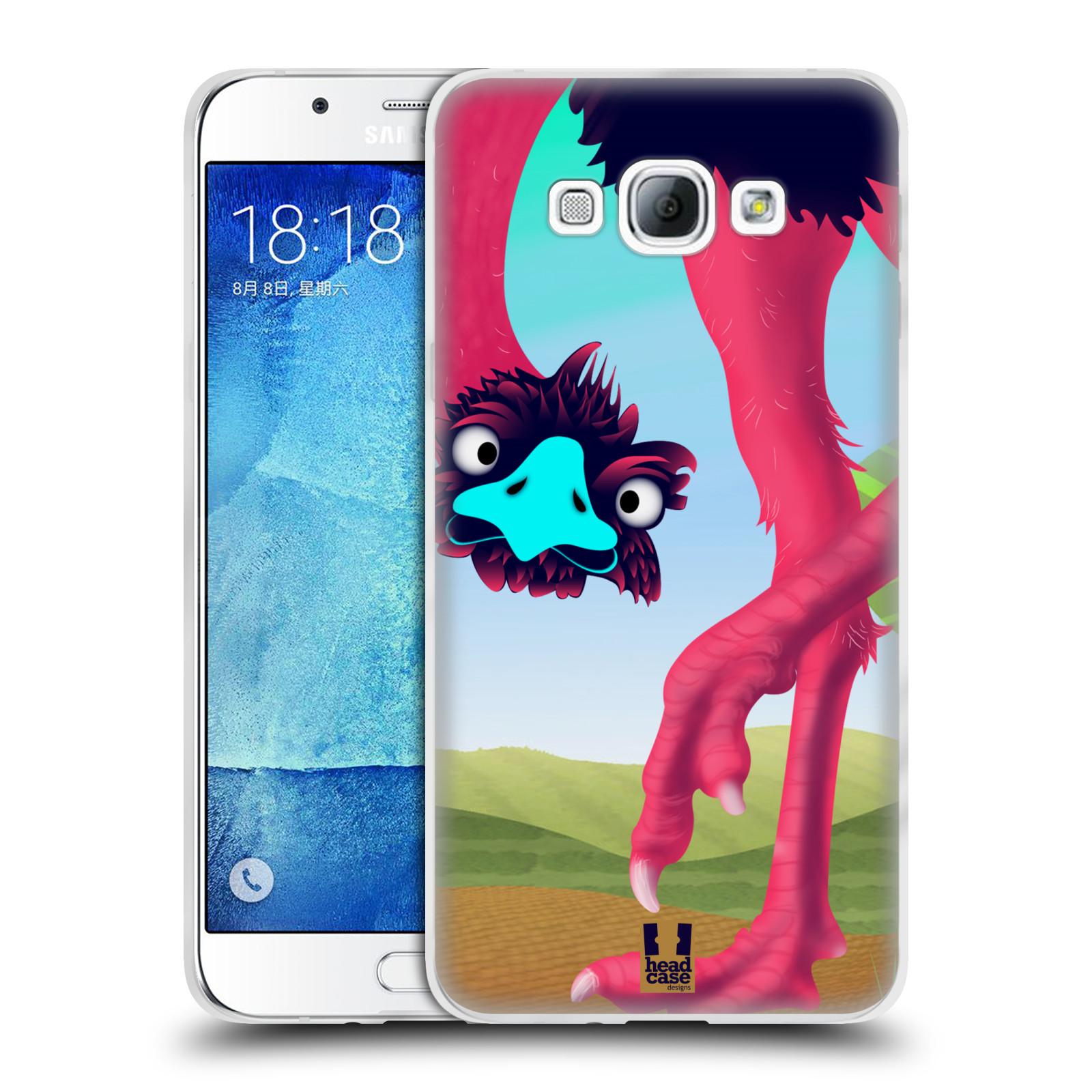 HEAD CASE silikonový obal na mobil Samsung Galaxy A8 vzor dlouhé nohy kreslená zvířátka pštros