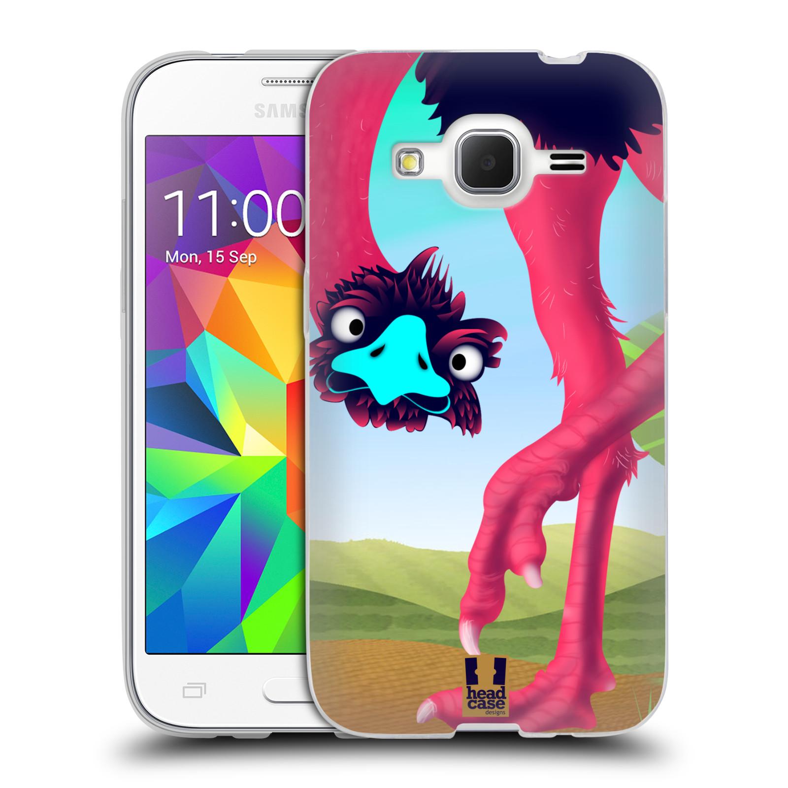 HEAD CASE silikonový obal na mobil Samsung Galaxy Core Prime (G360) vzor dlouhé nohy kreslená zvířátka pštros