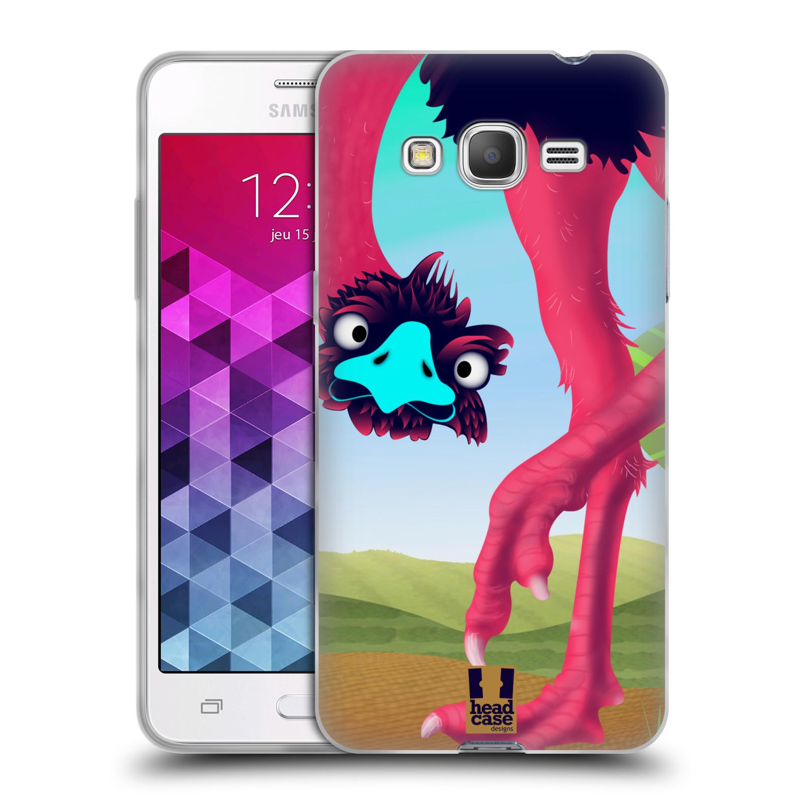 HEAD CASE silikonový obal na mobil Samsung Galaxy GRAND PRIME vzor dlouhé nohy kreslená zvířátka pštros