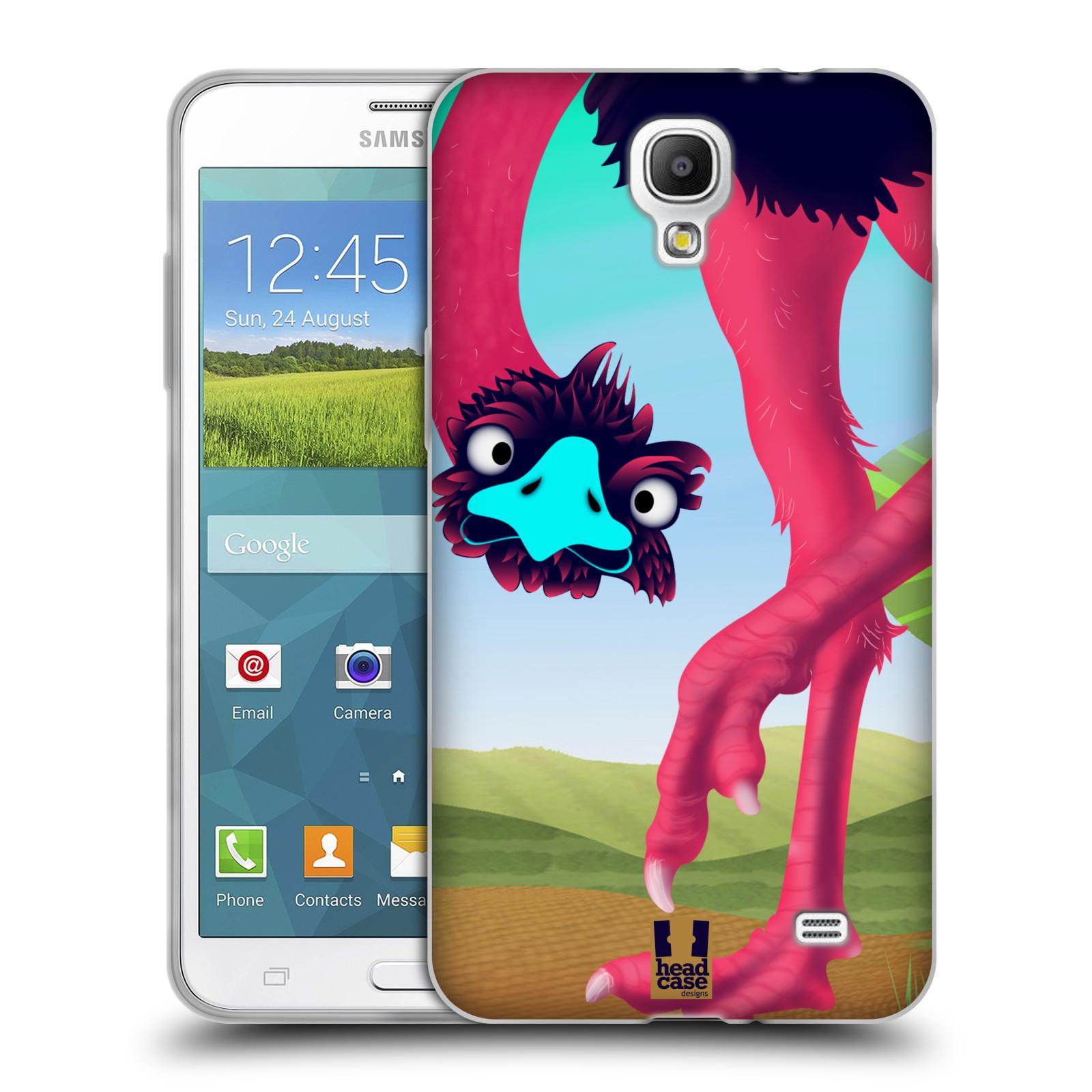 HEAD CASE silikonový obal na mobil Samsung Galaxy Mega 2 vzor dlouhé nohy kreslená zvířátka pštros