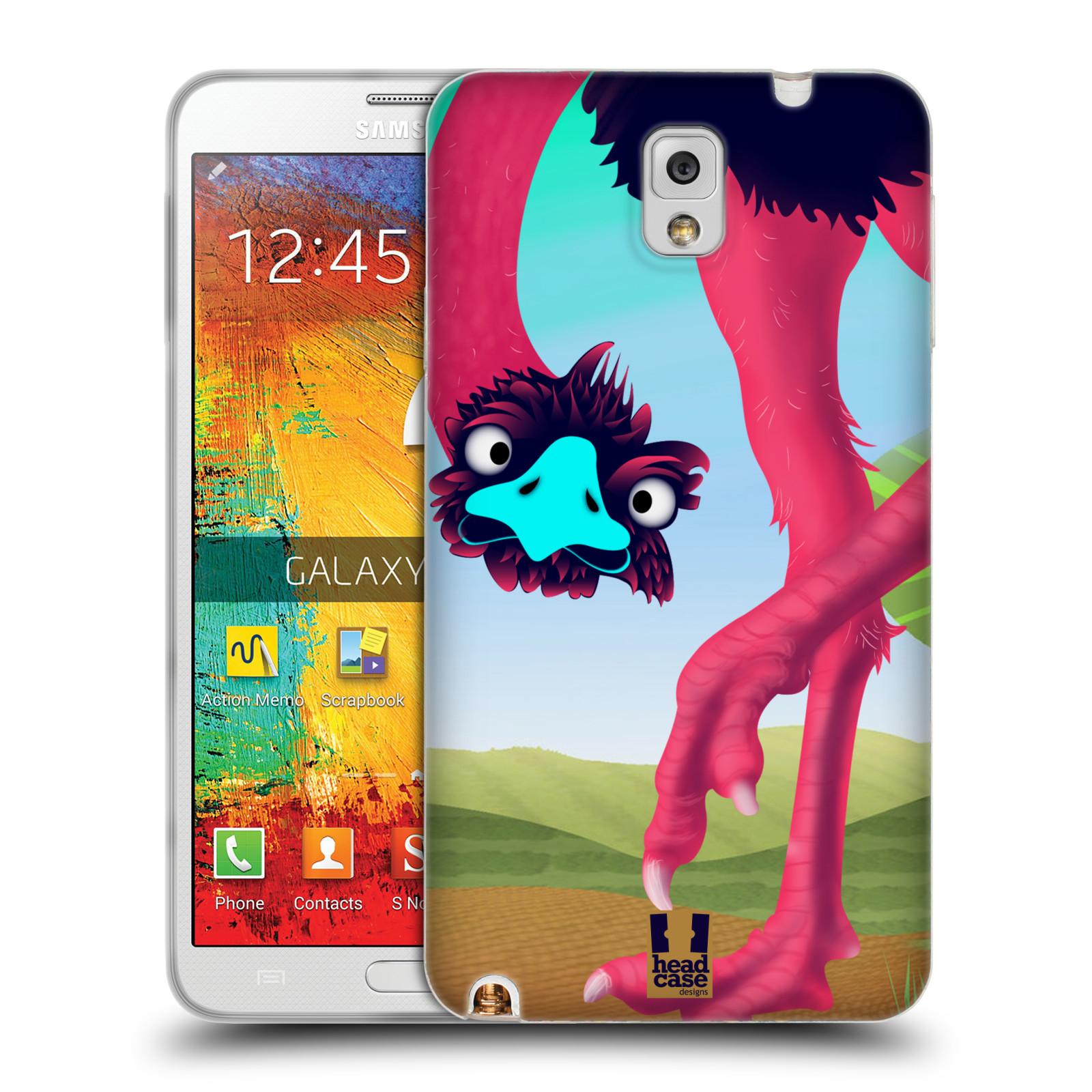 HEAD CASE silikonový obal na mobil Samsung Galaxy Note 3 (N9005) vzor dlouhé nohy kreslená zvířátka pštros
