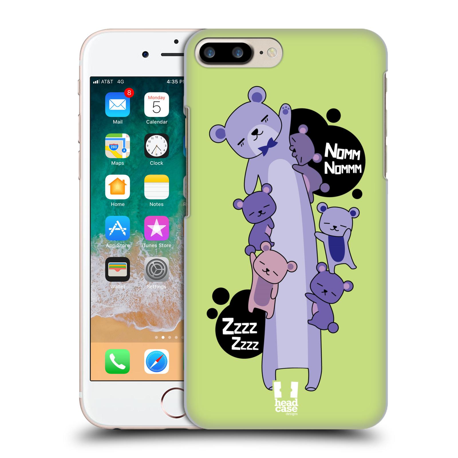 HEAD CASE plastový obal na mobil Apple Iphone 7 PLUS vzor dlouhá zvířátka medvěd zelená
