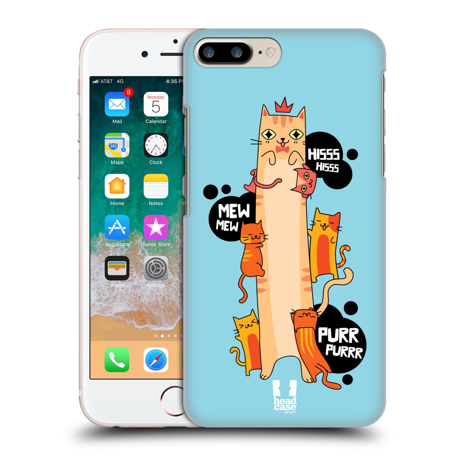 HEAD CASE plastový obal na mobil Apple Iphone 7 PLUS vzor dlouhá zvířátka kočička modrá