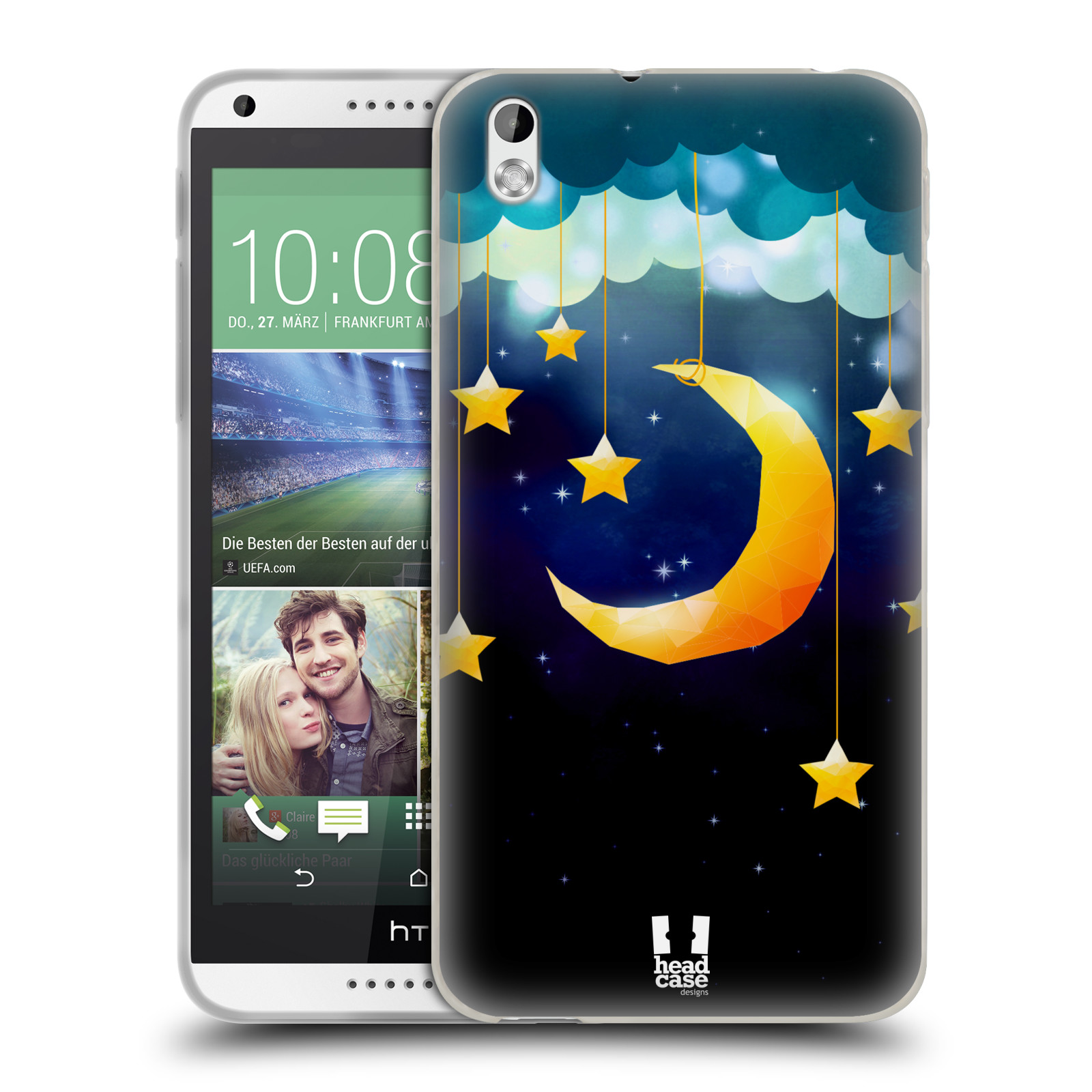 HEAD CASE LOVE AFLOAT SILICONE GEL CASE FOR HTC DESIRE 816