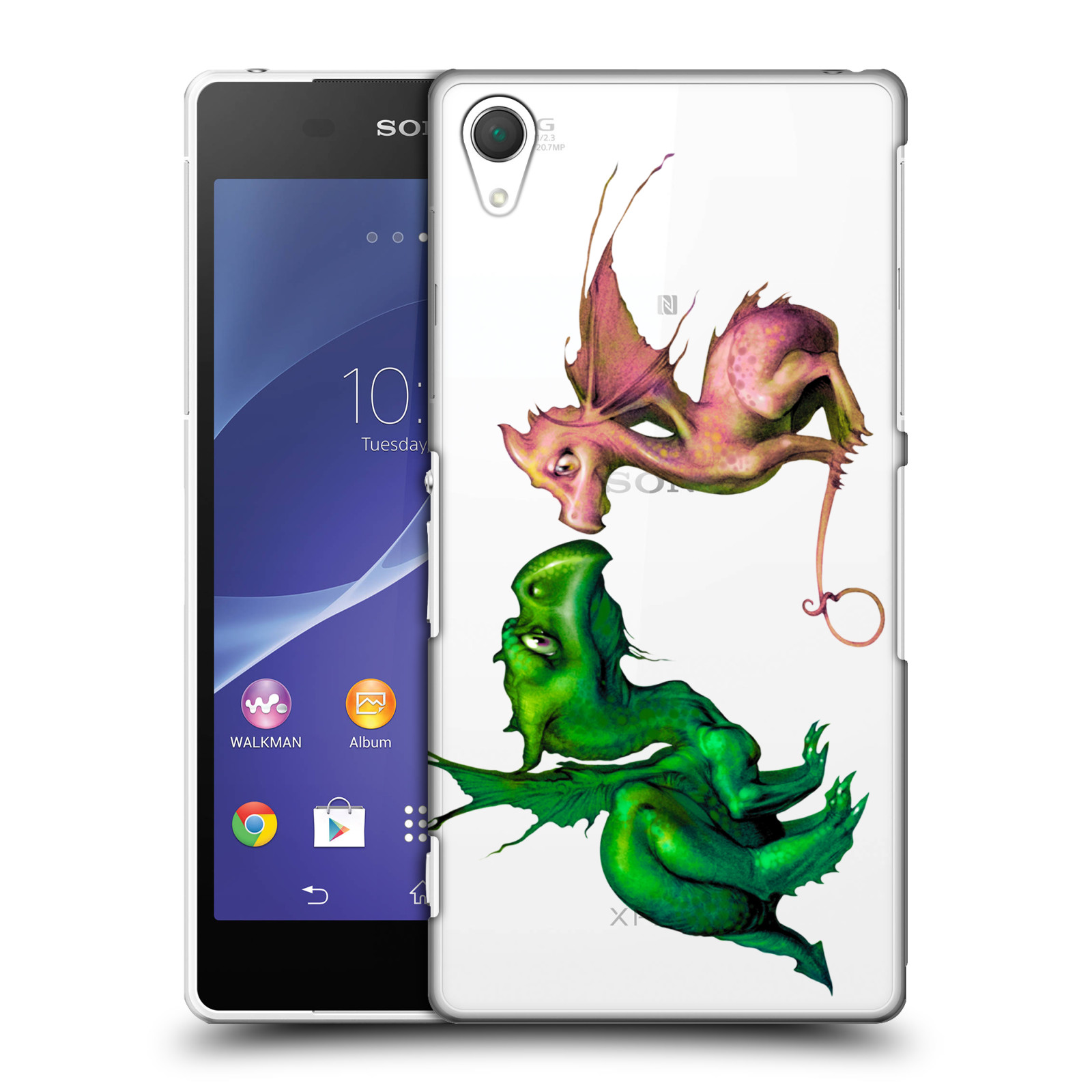 OFFICIAL-LA-WILLIAMS-LITTLE-DRAGONS-HARD-BACK-CASE-FOR-SONY-PHONES-2