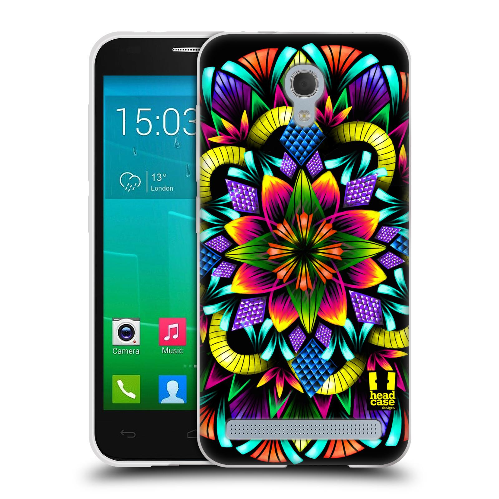 HEAD CASE silikonový obal na mobil Alcatel Idol 2 MINI S 6036Y vzor Indie Mandala kaleidoskop barevný vzor KVĚTINA