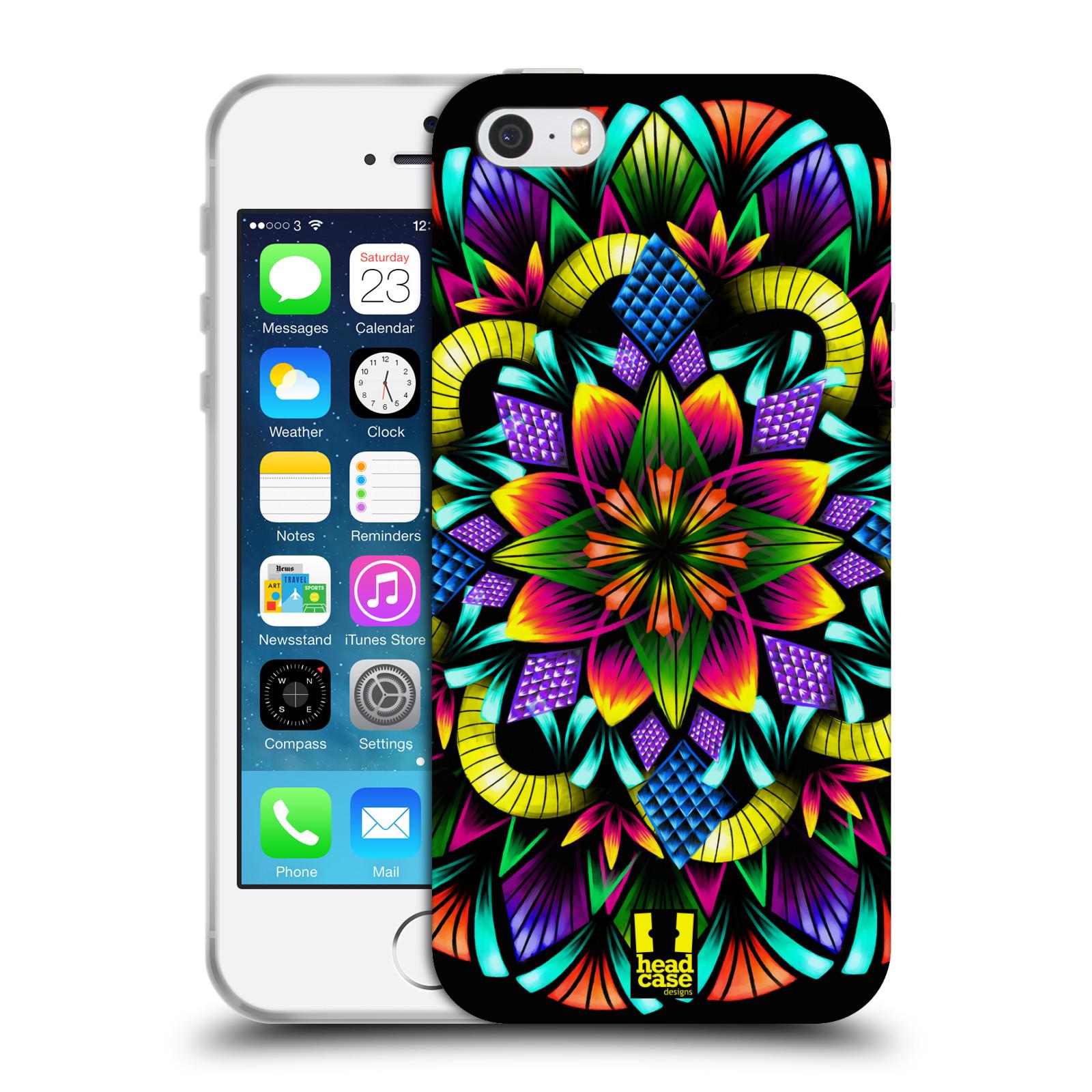 HEAD CASE silikonový obal na mobil Apple Iphone 5/5S vzor Indie Mandala kaleidoskop barevný vzor KVĚTINA