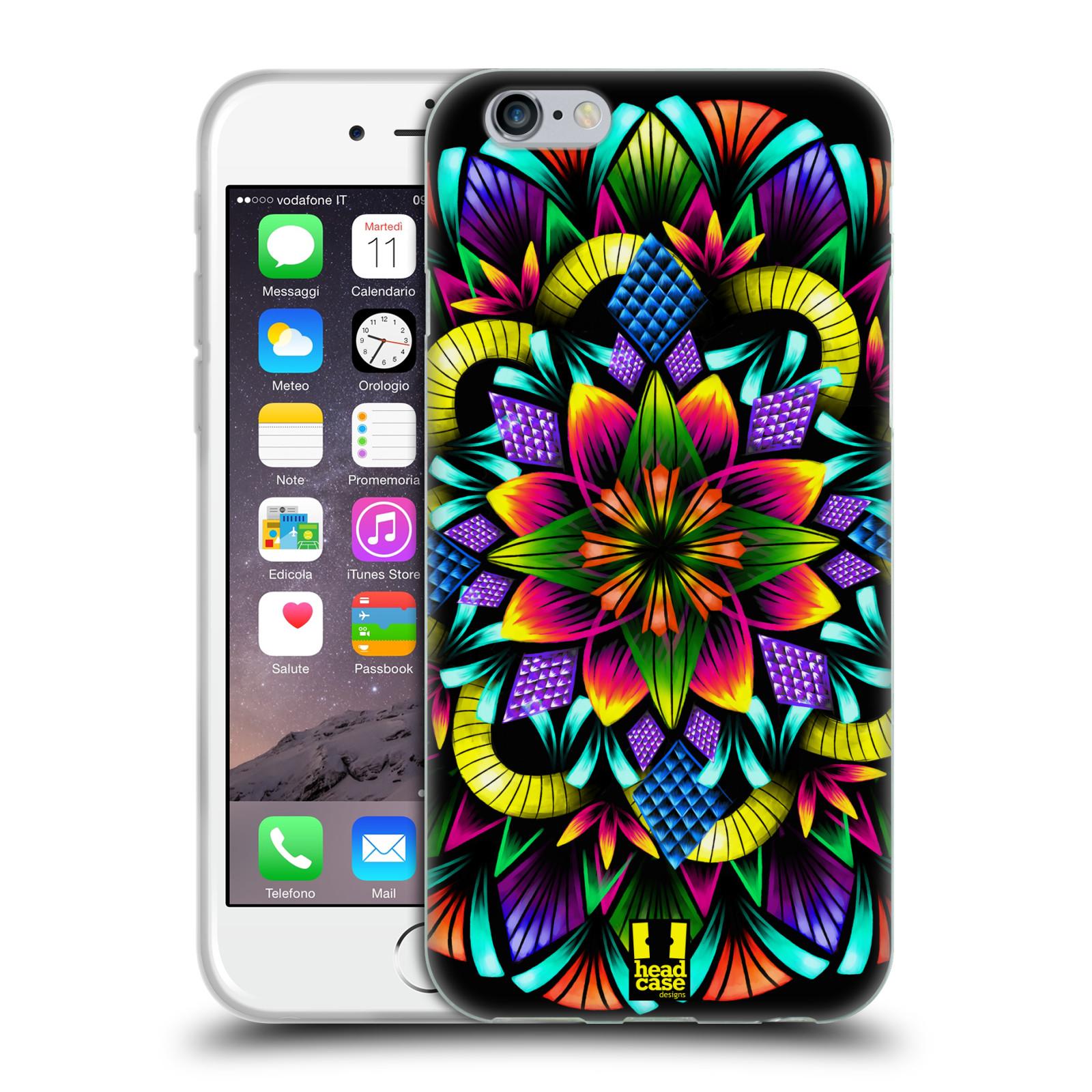 HEAD CASE silikonový obal na mobil Apple Iphone 6/6S vzor Indie Mandala kaleidoskop barevný vzor KVĚTINA