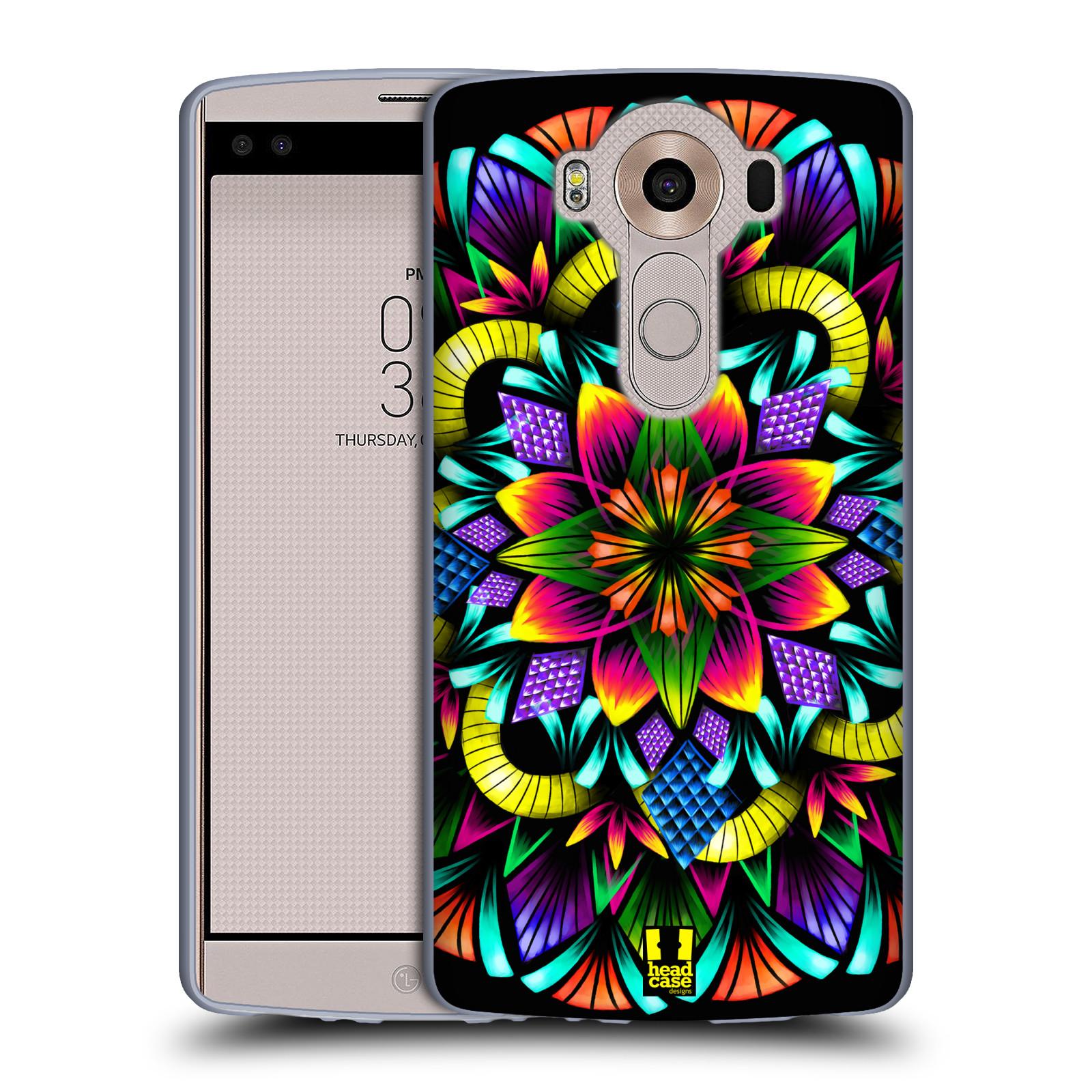 HEAD CASE silikonový obal na mobil LG V10 (H960A) vzor Indie Mandala kaleidoskop barevný vzor KVĚTINA