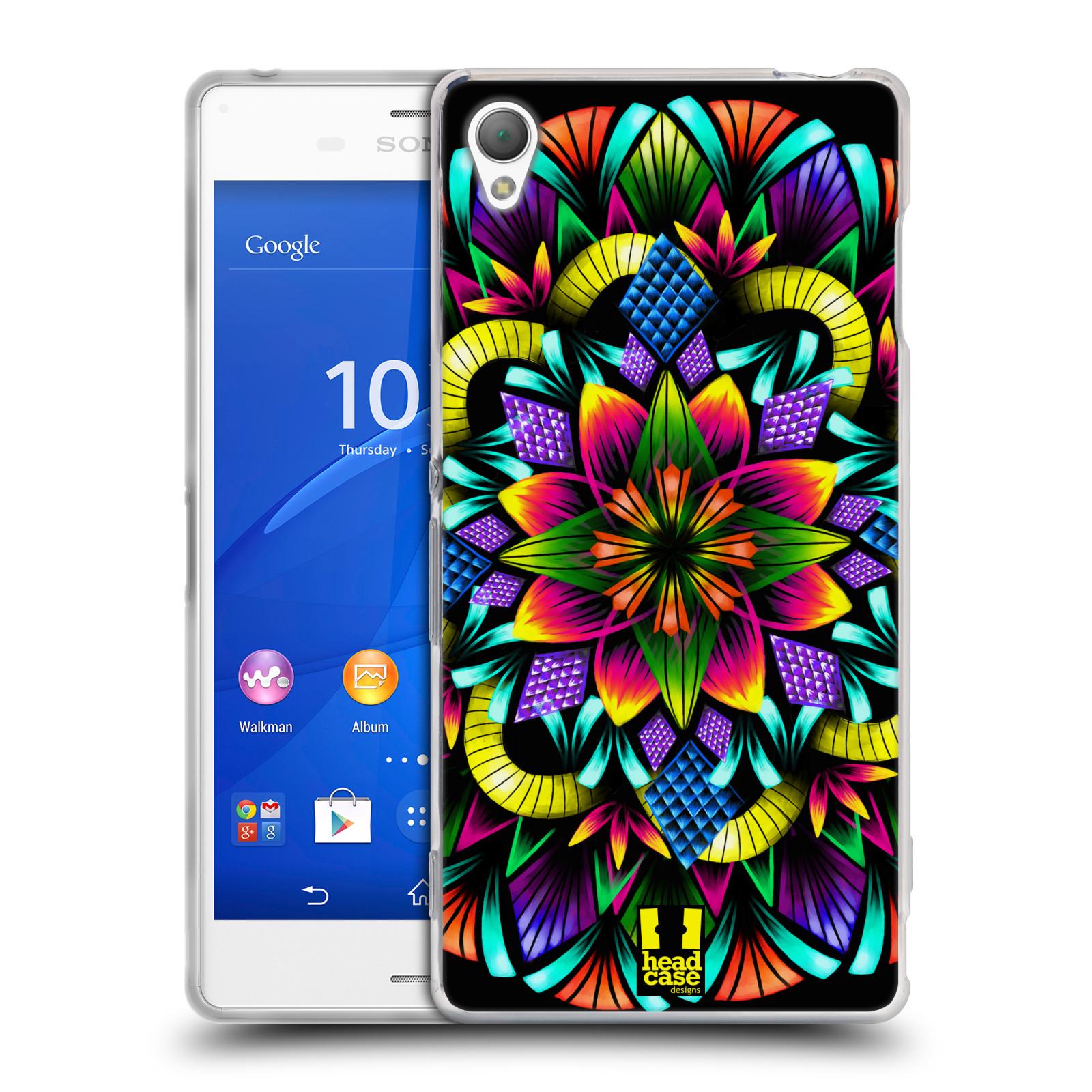HEAD CASE silikonový obal na mobil Sony Xperia Z3 vzor Indie Mandala kaleidoskop barevný vzor KVĚTINA