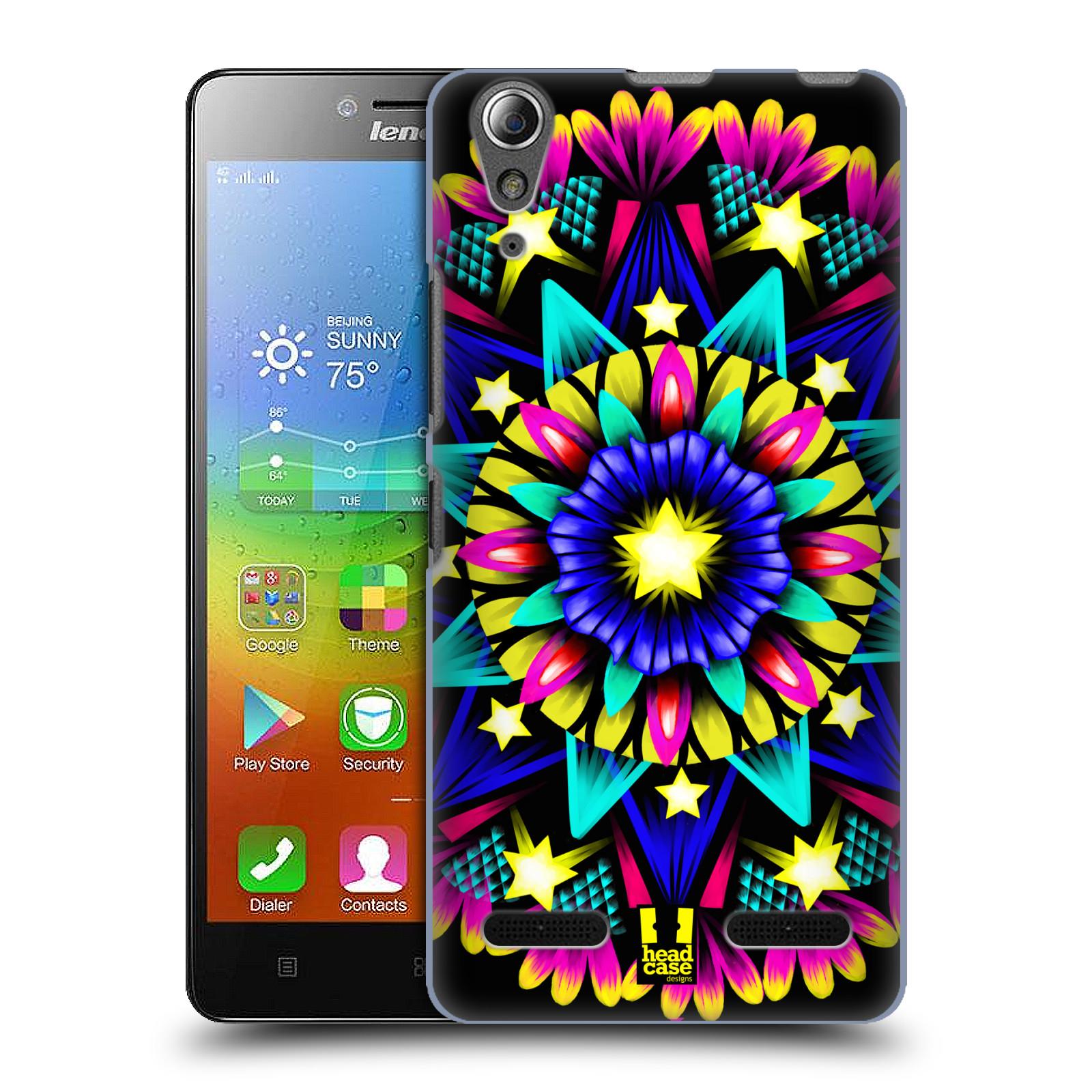 HEAD CASE pevný plastový obal na mobil LENOVO A6000 / A6000 PLUS vzor Indie Mandala kaleidoskop barevný vzor HVĚZDA