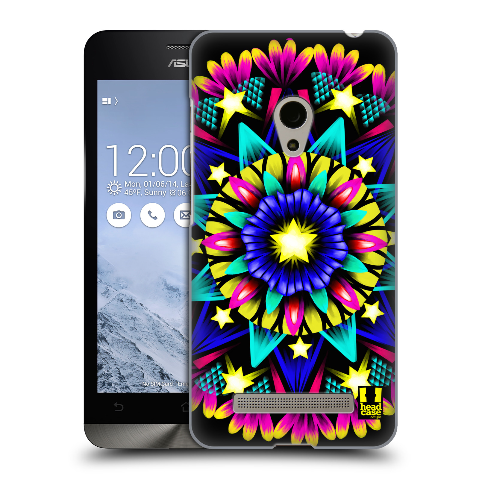 HEAD CASE plastový obal na mobil Asus Zenfone 5 vzor Indie Mandala kaleidoskop barevný vzor HVĚZDA