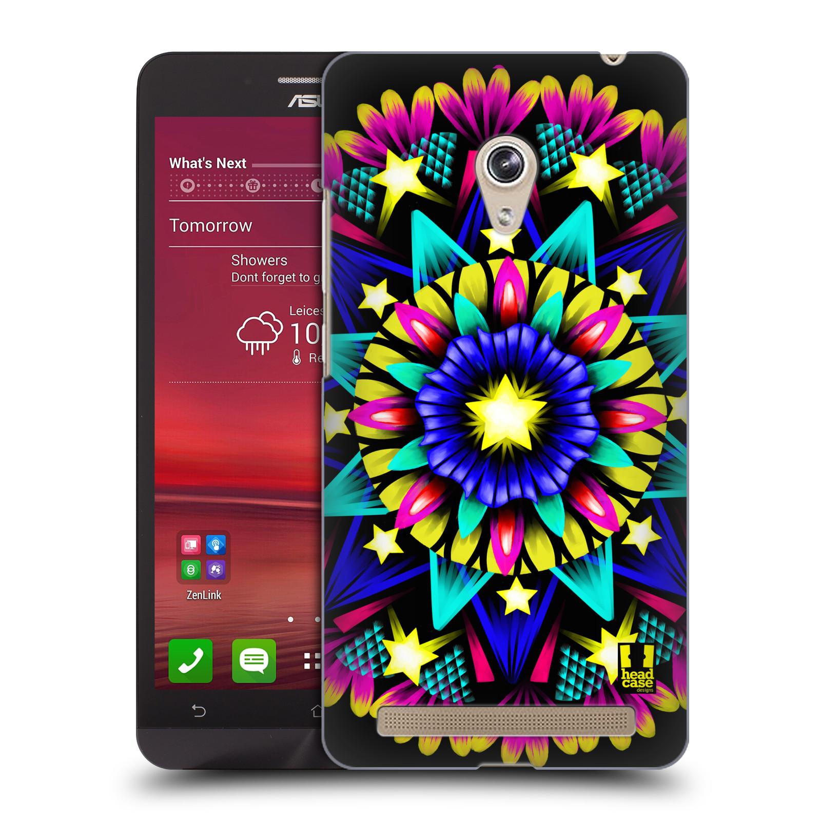 HEAD CASE plastový obal na mobil Asus Zenfone 6 vzor Indie Mandala kaleidoskop barevný vzor HVĚZDA