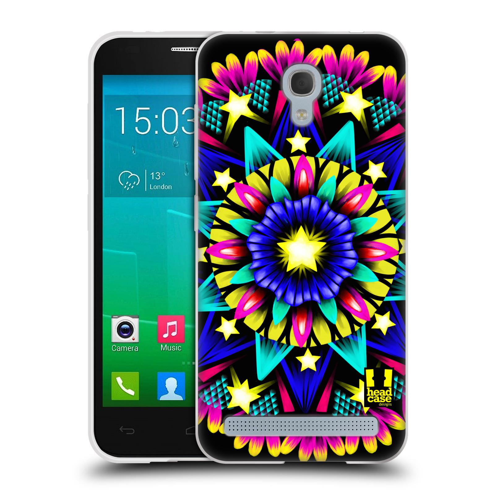 HEAD CASE silikonový obal na mobil Alcatel Idol 2 MINI S 6036Y vzor Indie Mandala kaleidoskop barevný vzor HVĚZDA