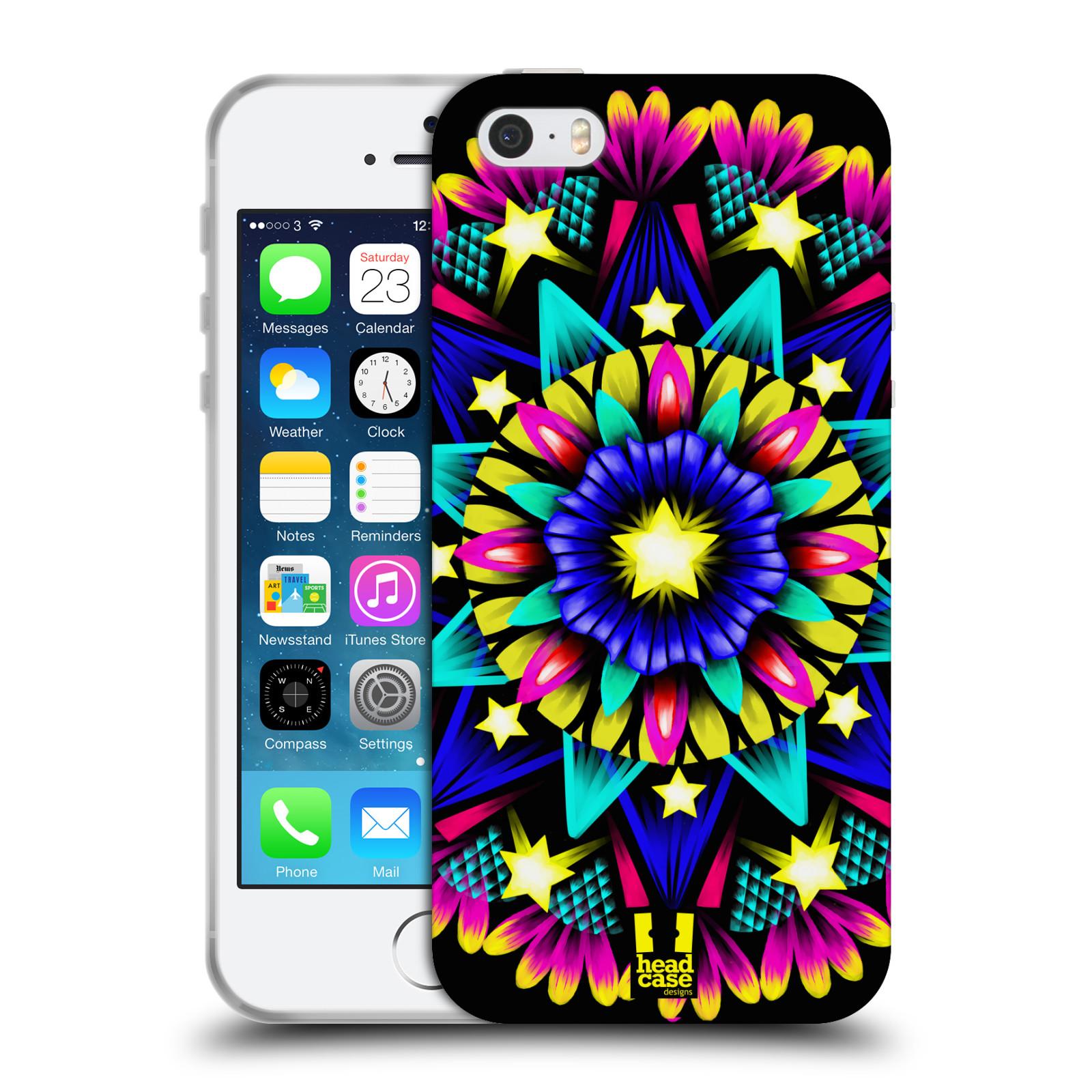 HEAD CASE silikonový obal na mobil Apple Iphone 5/5S vzor Indie Mandala kaleidoskop barevný vzor HVĚZDA