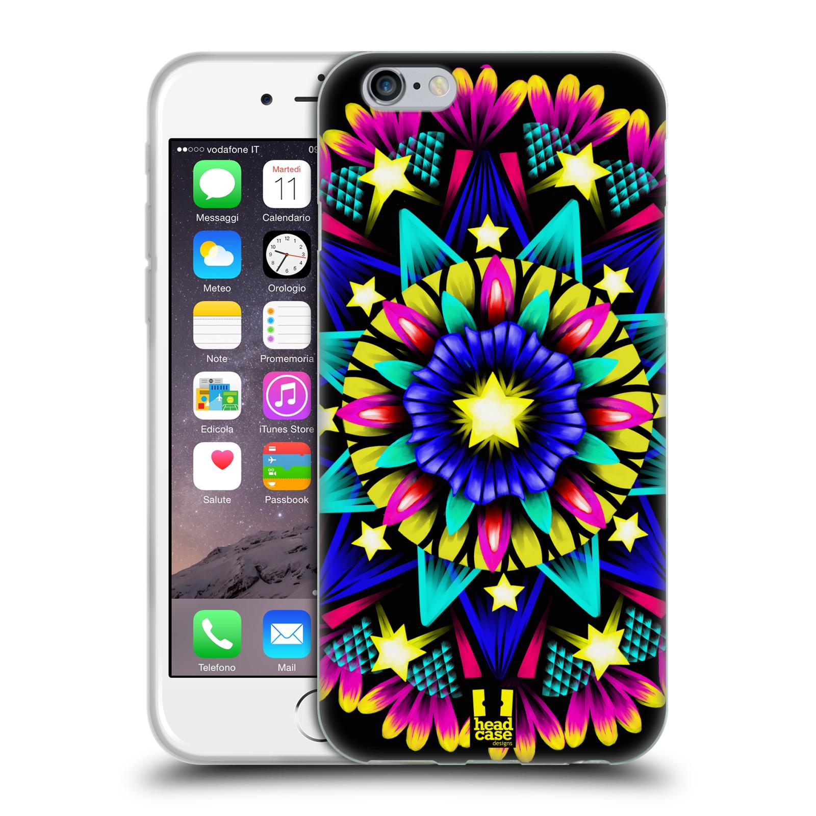 HEAD CASE silikonový obal na mobil Apple Iphone 6/6S vzor Indie Mandala kaleidoskop barevný vzor HVĚZDA
