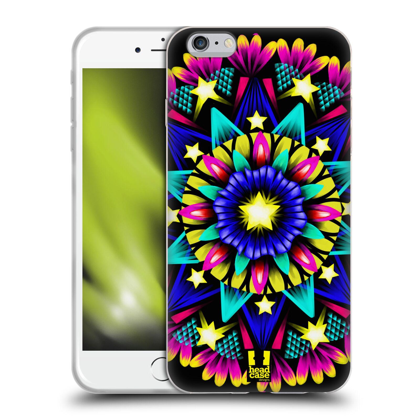 HEAD CASE silikonový obal na mobil Apple Iphone 6 PLUS/ 6S PLUS vzor Indie Mandala kaleidoskop barevný vzor HVĚZDA