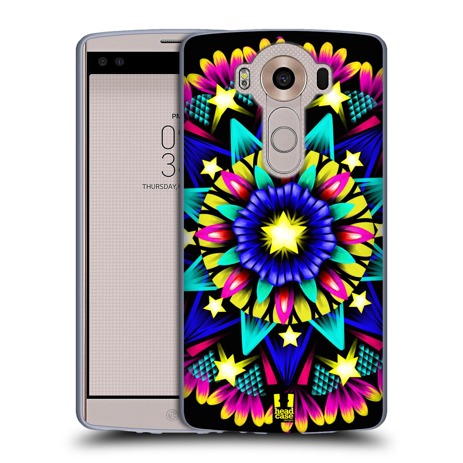 HEAD CASE silikonový obal na mobil LG V10 (H960A) vzor Indie Mandala kaleidoskop barevný vzor HVĚZDA