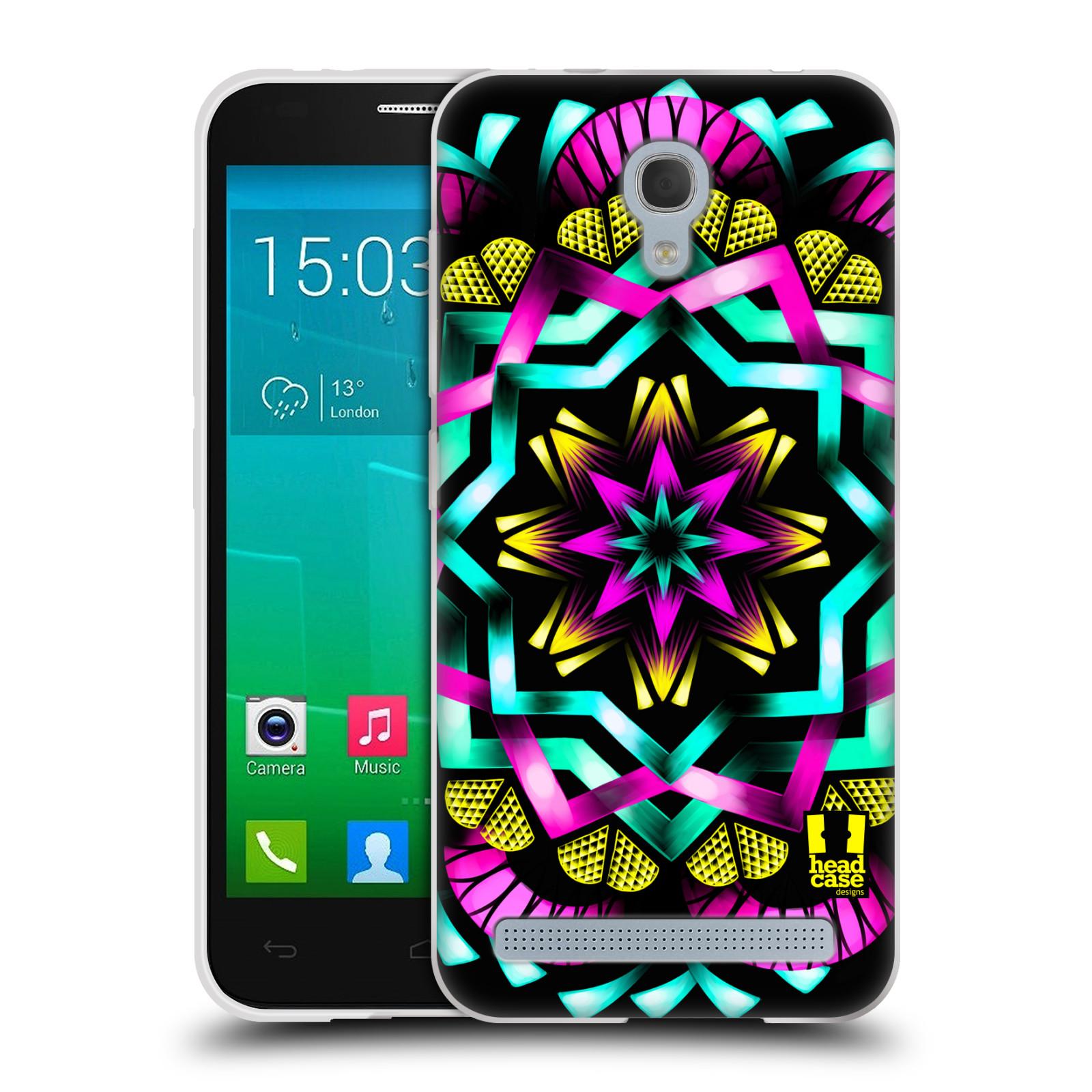 HEAD CASE silikonový obal na mobil Alcatel Idol 2 MINI S 6036Y vzor Indie Mandala kaleidoskop barevný vzor SLUNCE