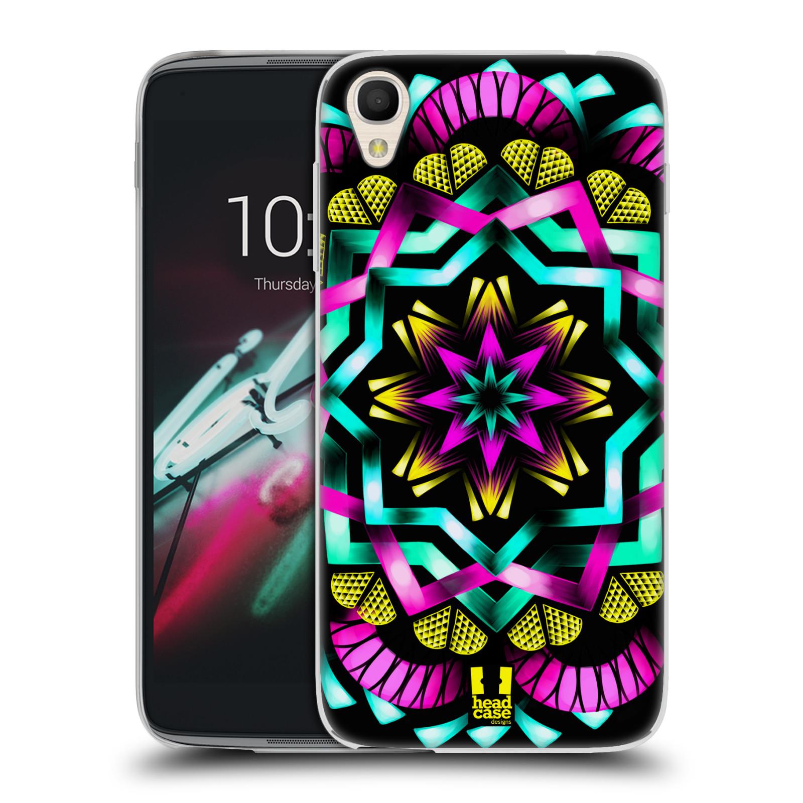 HEAD CASE silikonový obal na mobil Alcatel Idol 3 OT-6039Y (4.7) vzor Indie Mandala kaleidoskop barevný vzor SLUNCE