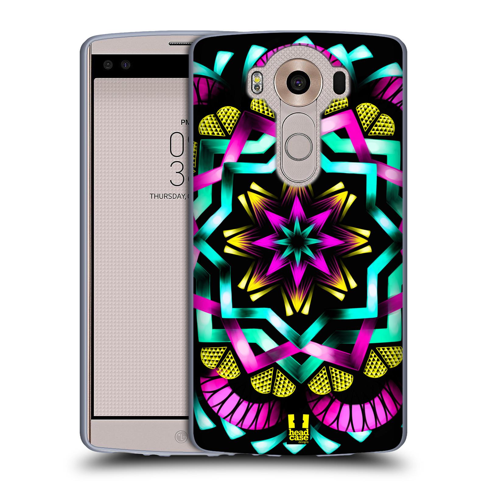 HEAD CASE silikonový obal na mobil LG V10 (H960A) vzor Indie Mandala kaleidoskop barevný vzor SLUNCE