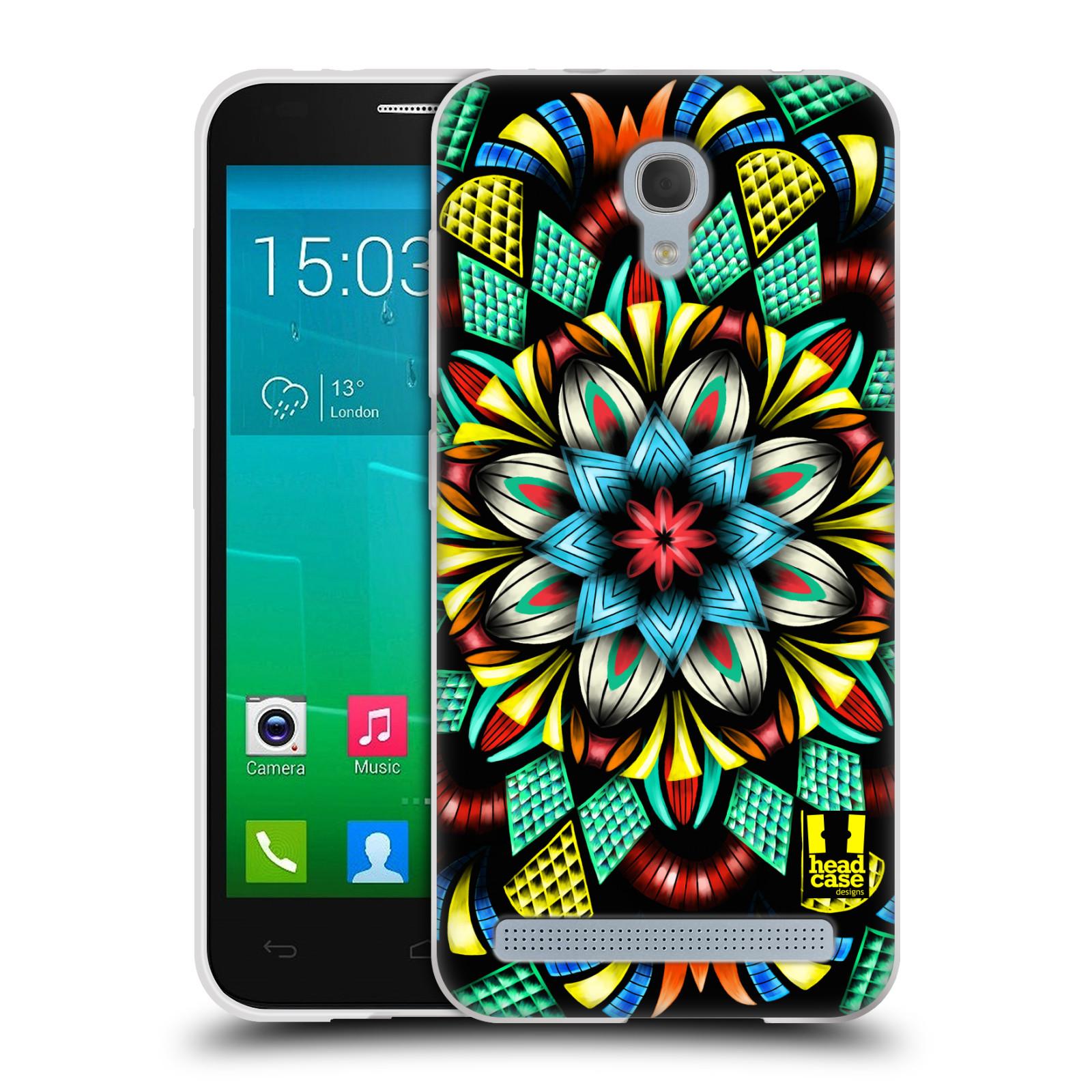 HEAD CASE silikonový obal na mobil Alcatel Idol 2 MINI S 6036Y vzor Indie Mandala kaleidoskop barevný vzor TRADIČNÍ