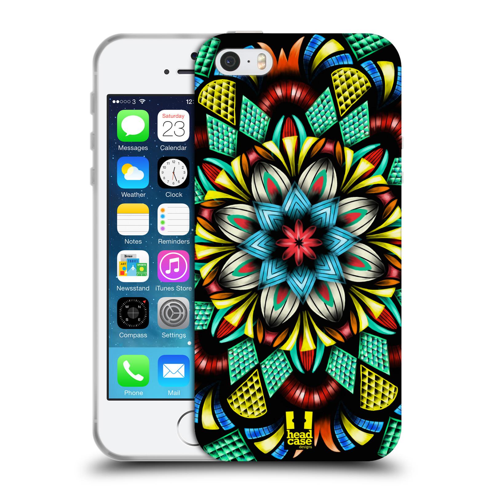 HEAD CASE silikonový obal na mobil Apple Iphone 5/5S vzor Indie Mandala kaleidoskop barevný vzor TRADIČNÍ