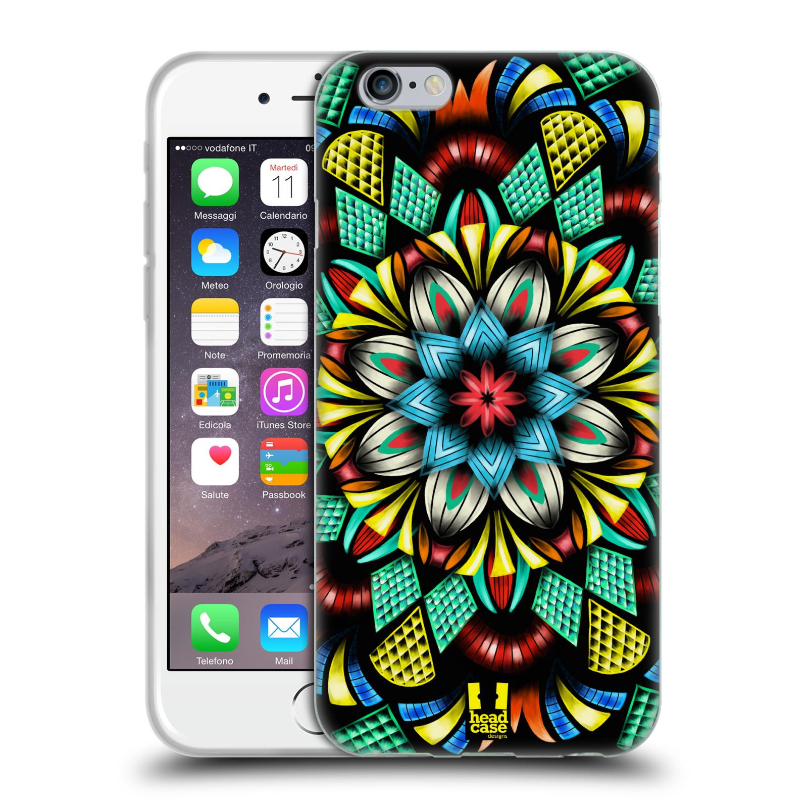 HEAD CASE silikonový obal na mobil Apple Iphone 6/6S vzor Indie Mandala kaleidoskop barevný vzor TRADIČNÍ