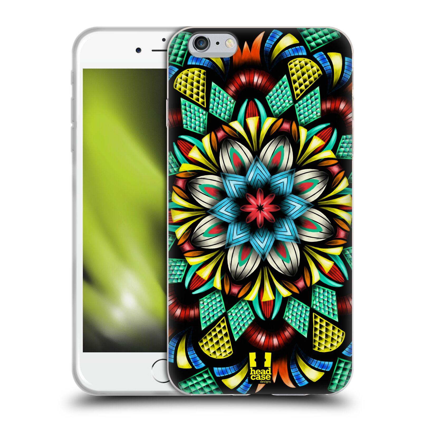HEAD CASE silikonový obal na mobil Apple Iphone 6 PLUS/ 6S PLUS vzor Indie Mandala kaleidoskop barevný vzor TRADIČNÍ