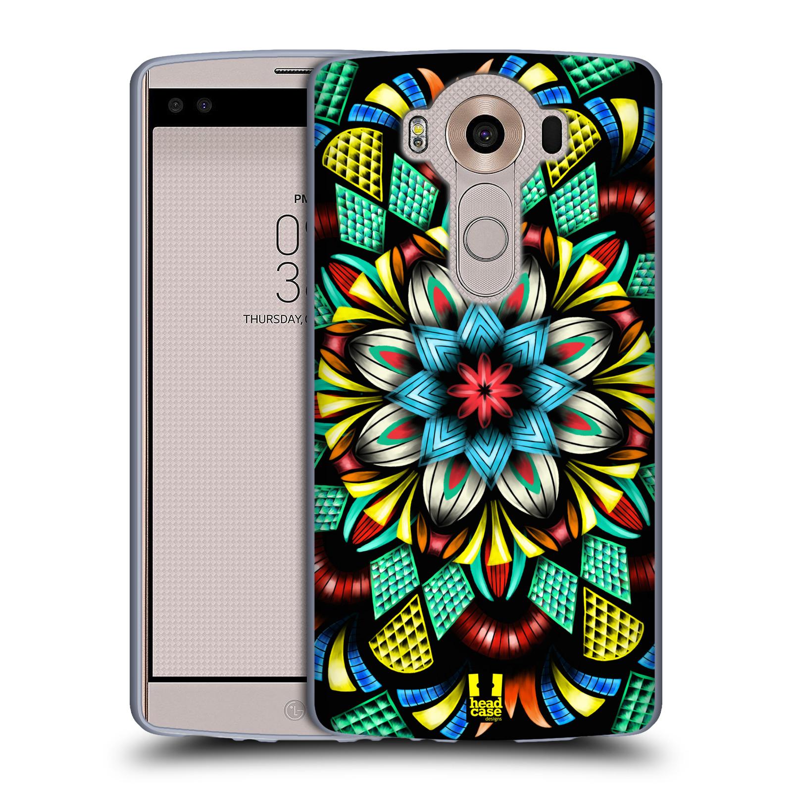 HEAD CASE silikonový obal na mobil LG V10 (H960A) vzor Indie Mandala kaleidoskop barevný vzor TRADIČNÍ