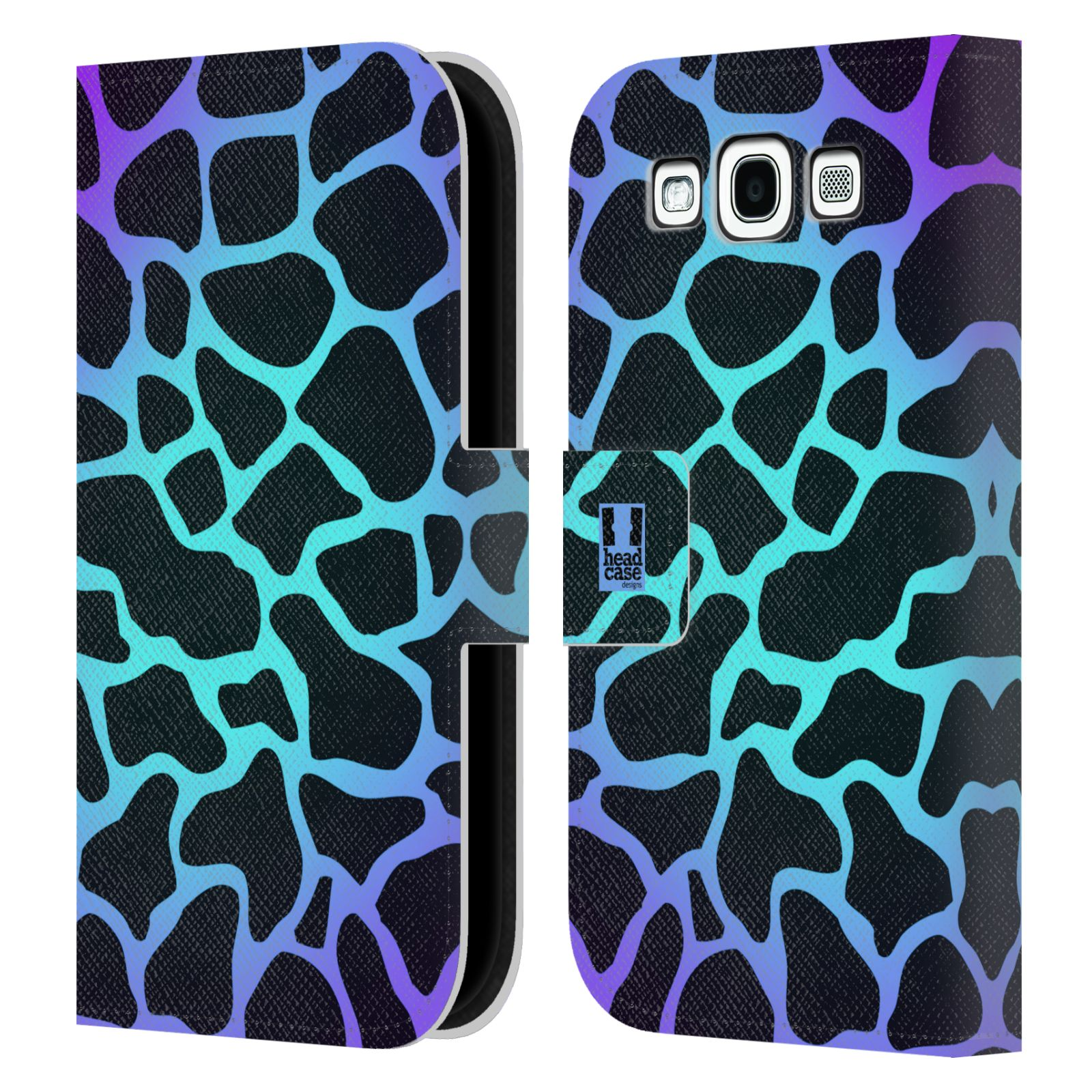 HEAD CASE Flipové pouzdro pro mobil Samsung Galaxy S3 Zvířecí barevné vzory magická tyrkysova žirafa