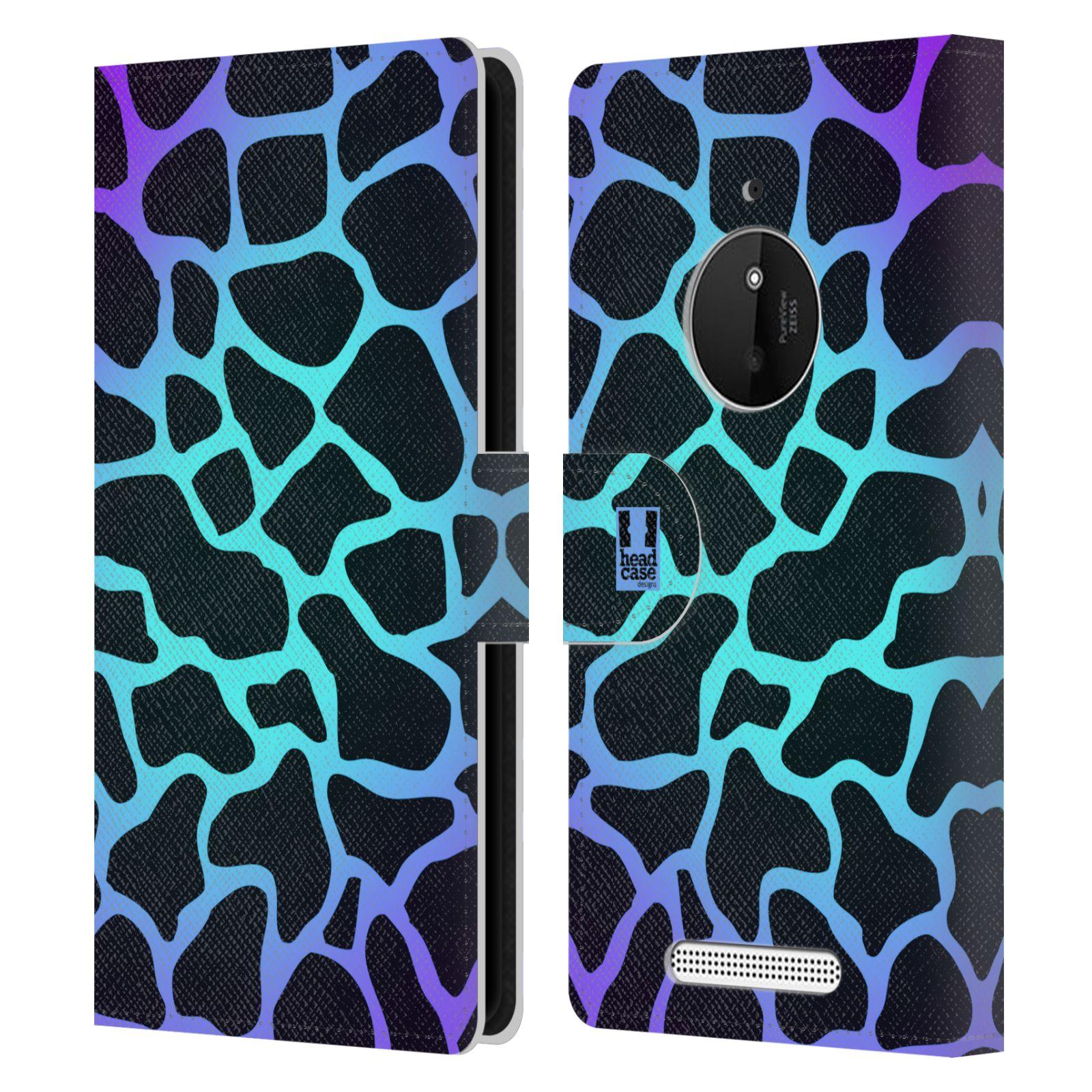 HEAD CASE Flipové pouzdro pro mobil NOKIA LUMIA 830 Zvířecí barevné vzory magická tyrkysova žirafa