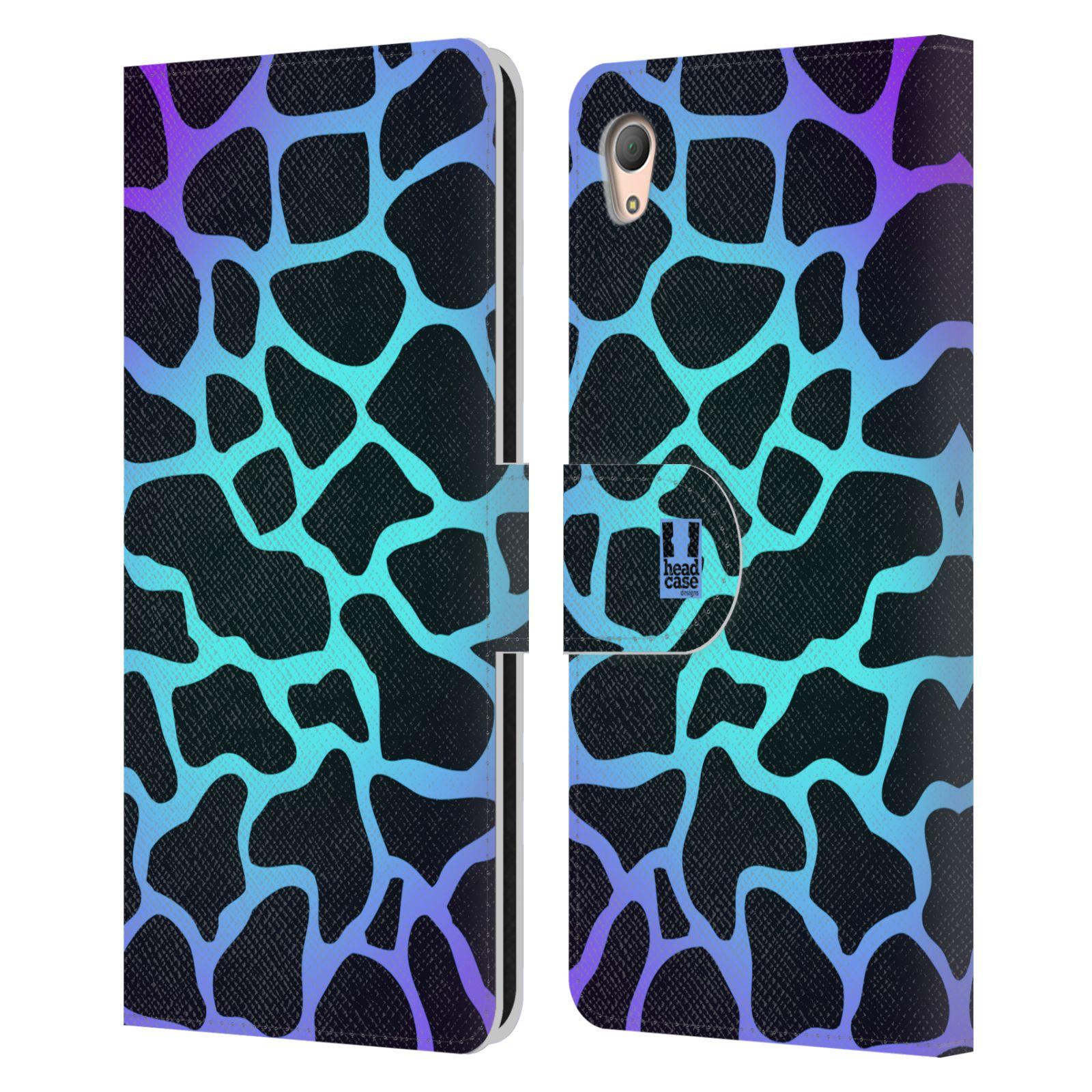 HEAD CASE Flipové pouzdro pro mobil SONY XPERIA Z3+ (PLUS) Zvířecí barevné vzory magická tyrkysova žirafa