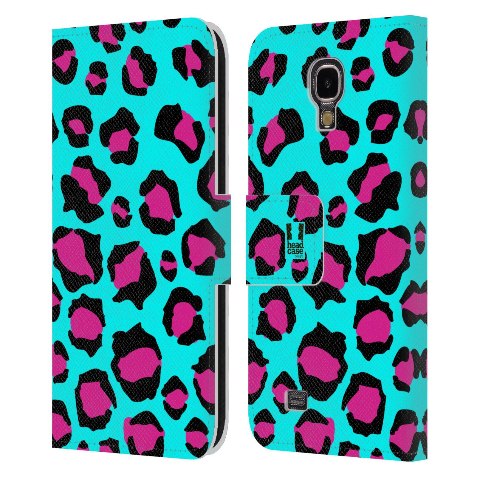HEAD CASE Flipové pouzdro pro mobil Samsung Galaxy S4 Zvířecí barevné vzory tyrkysový leopard