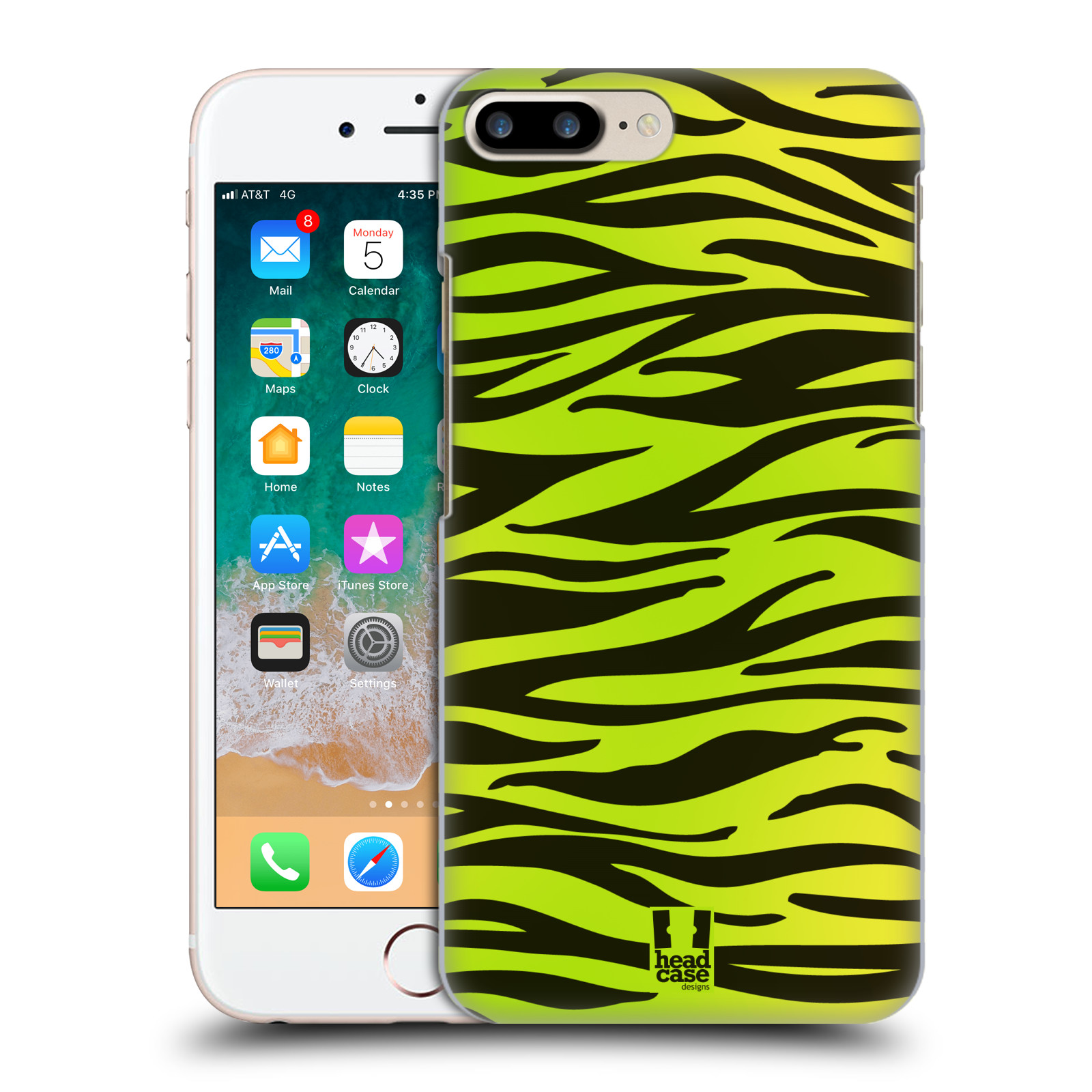 HEAD CASE plastový obal na mobil Apple Iphone 7 PLUS vzor Divočina zvíře zelená zebra