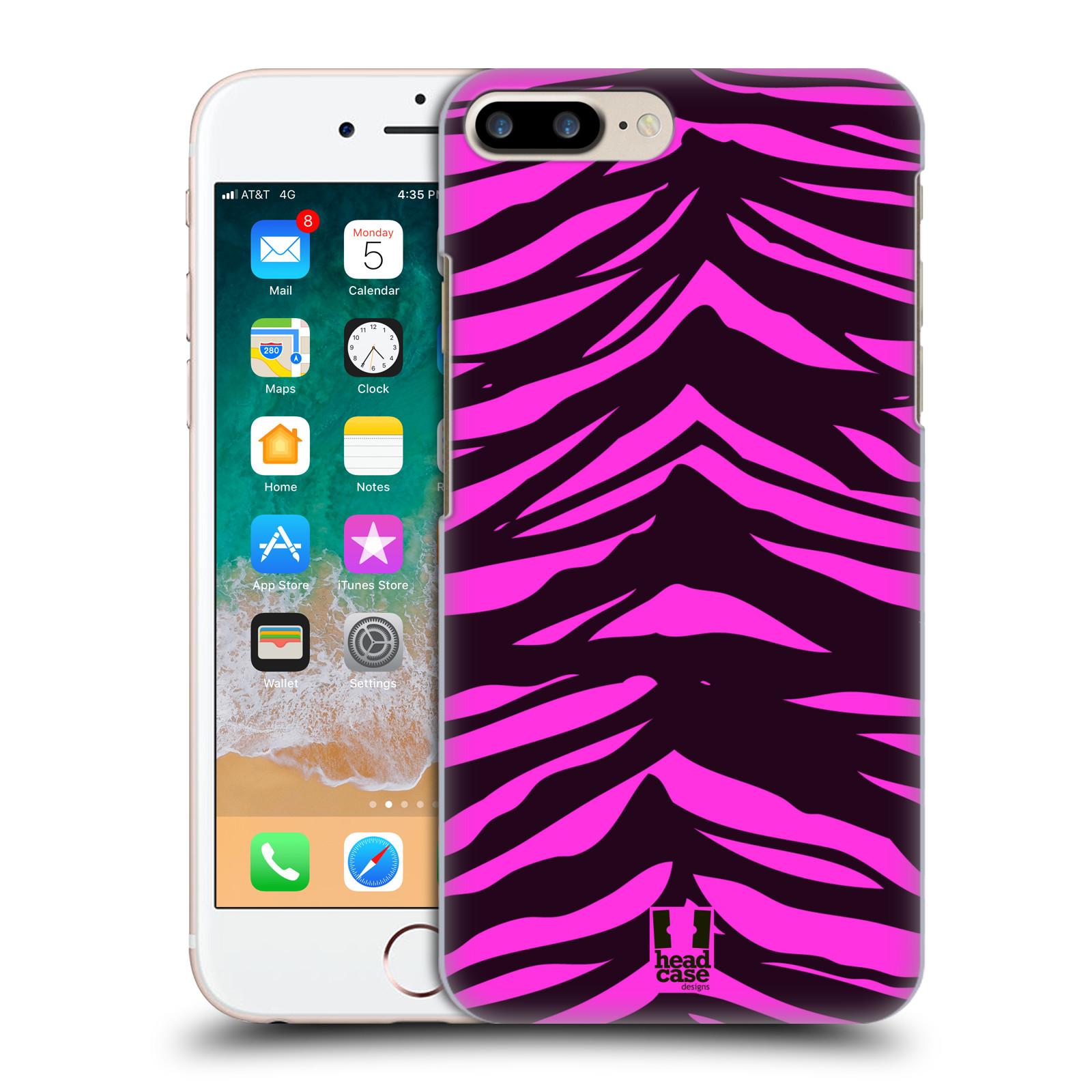 HEAD CASE plastový obal na mobil Apple Iphone 7 PLUS vzor Divočina zvíře tygr anilinová/fialová