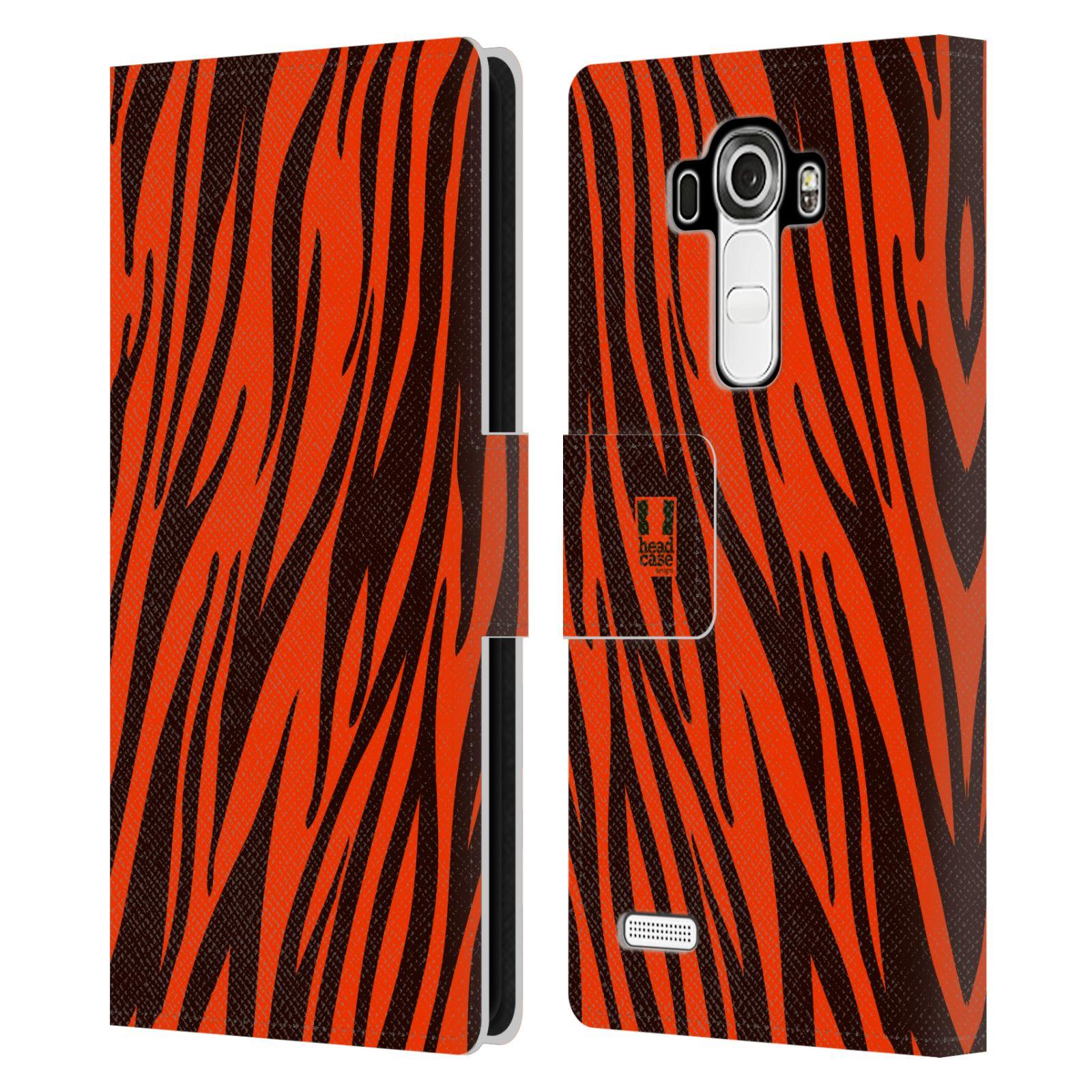 HEAD CASE Flipové pouzdro pro mobil LG G4 (H815) Zvířecí barevné vzory oranžový tygr