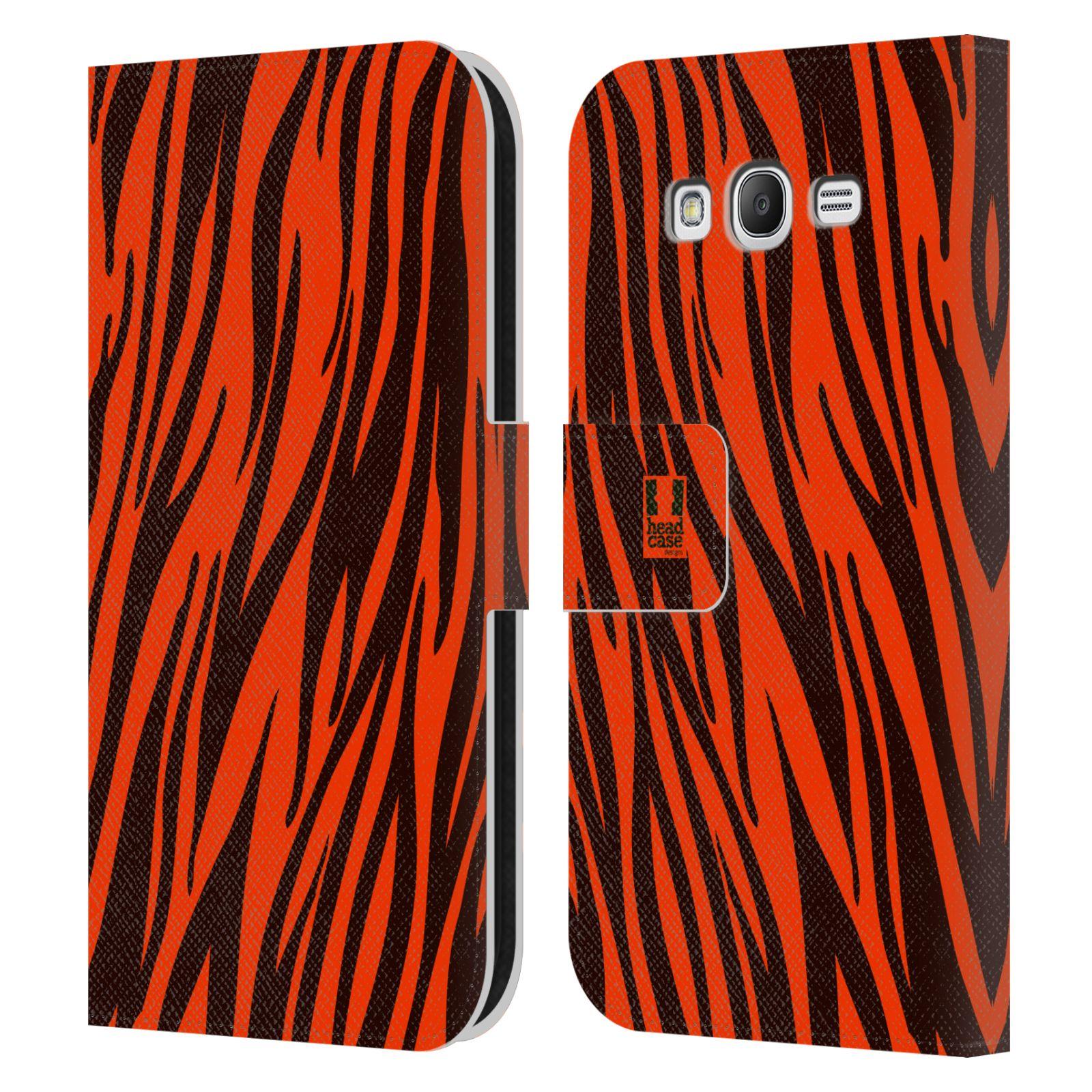 HEAD CASE Flipové pouzdro pro mobil Samsung Galaxy Grand i9080 Zvířecí barevné vzory oranžový tygr