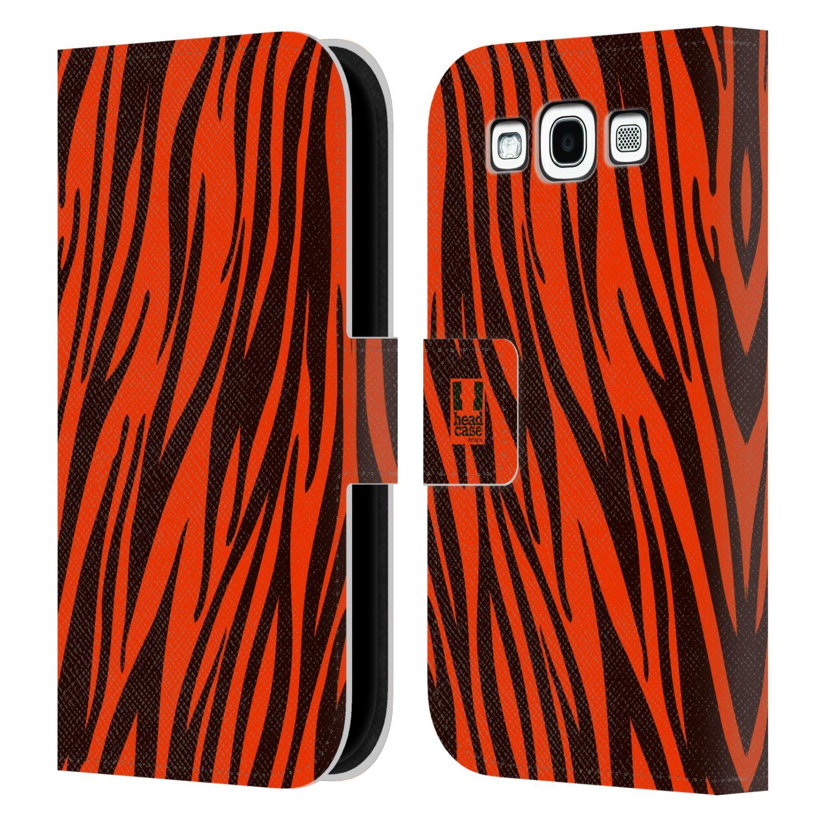 HEAD CASE Flipové pouzdro pro mobil Samsung Galaxy S3 Zvířecí barevné vzory oranžový tygr