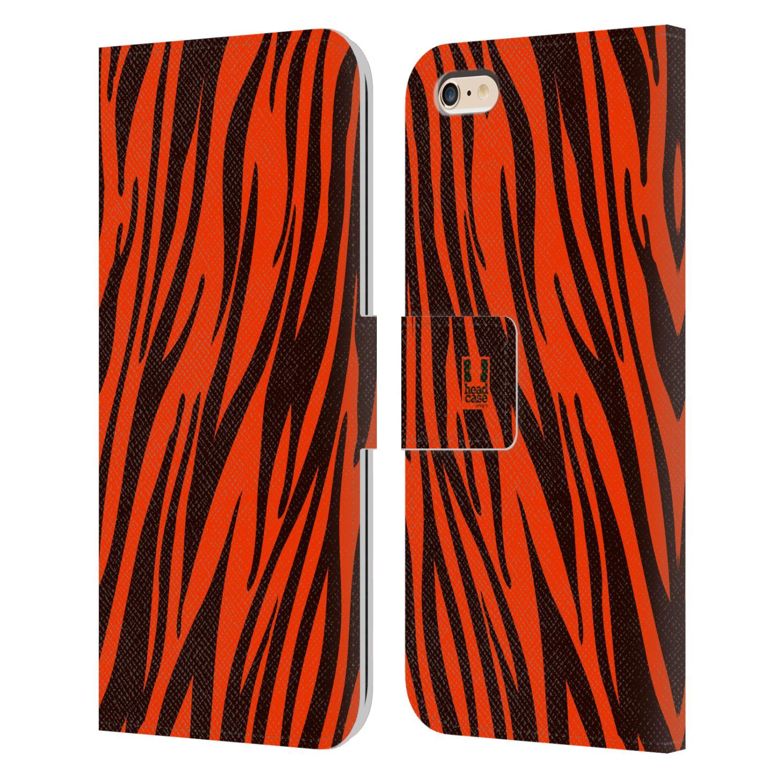 HEAD CASE Flipové pouzdro pro mobil Apple Iphone 6 PLUS / 6S PLUS Zvířecí barevné vzory oranžový tygr