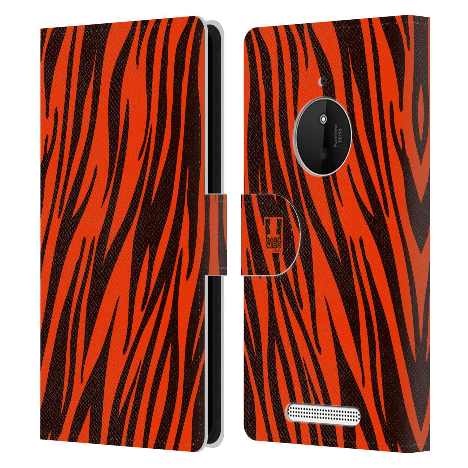HEAD CASE Flipové pouzdro pro mobil NOKIA LUMIA 830 Zvířecí barevné vzory oranžový tygr