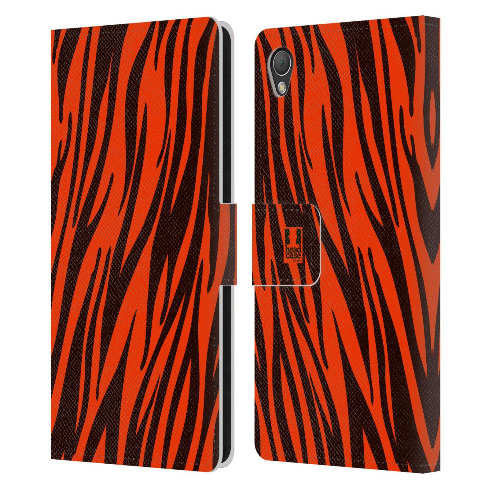 HEAD CASE Flipové pouzdro pro mobil SONY XPERIA Z3 Zvířecí barevné vzory oranžový tygr