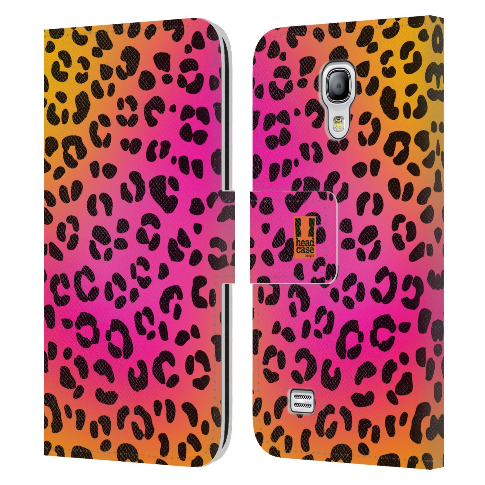 HEAD CASE Flipové pouzdro pro mobil Samsung Galaxy S4 MINI / S4 MINI DUOS Zvířecí barevné vzory růžový leopard