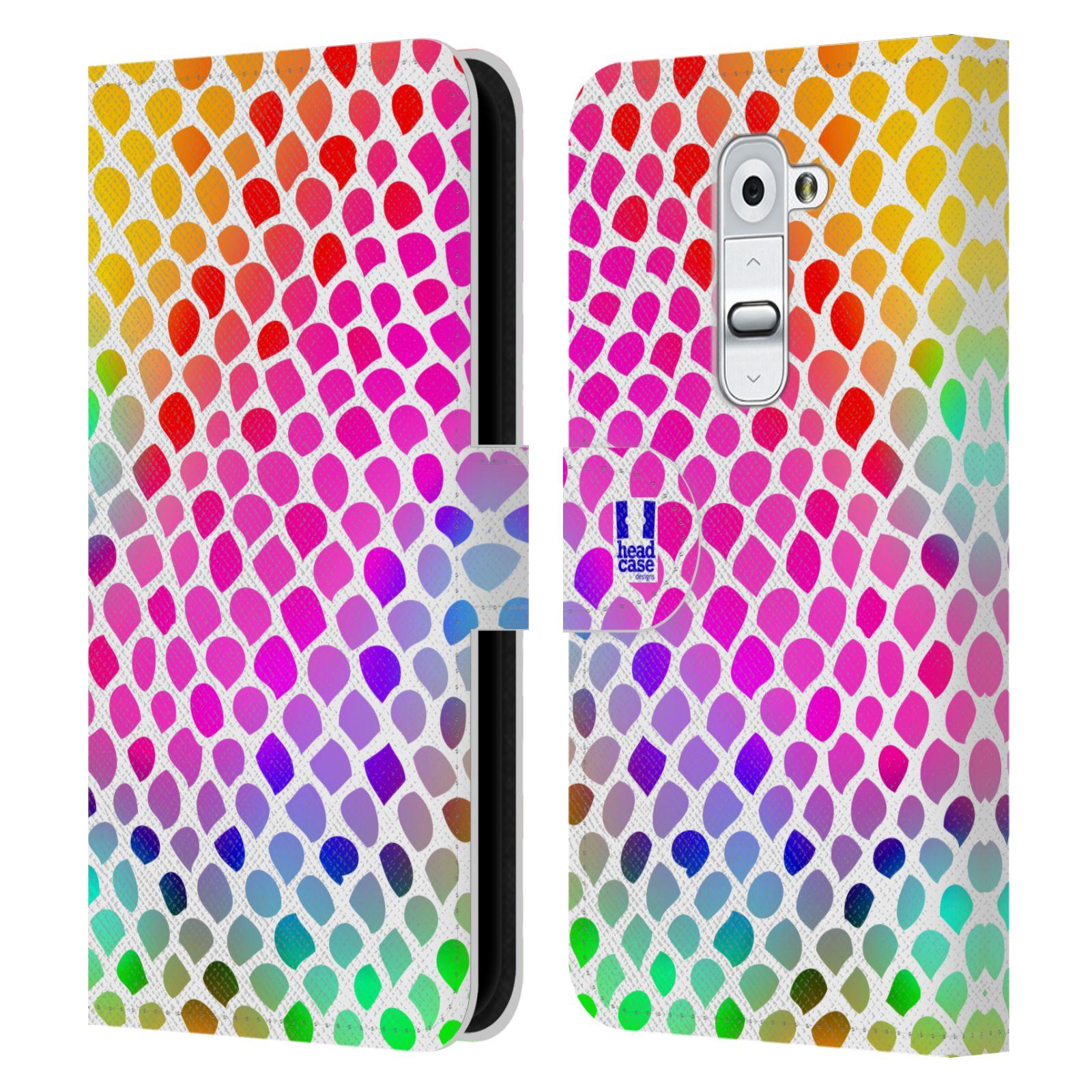 HEAD CASE Flipové pouzdro pro mobil LG G2 (D802) Zvířecí barevné vzory duhový had